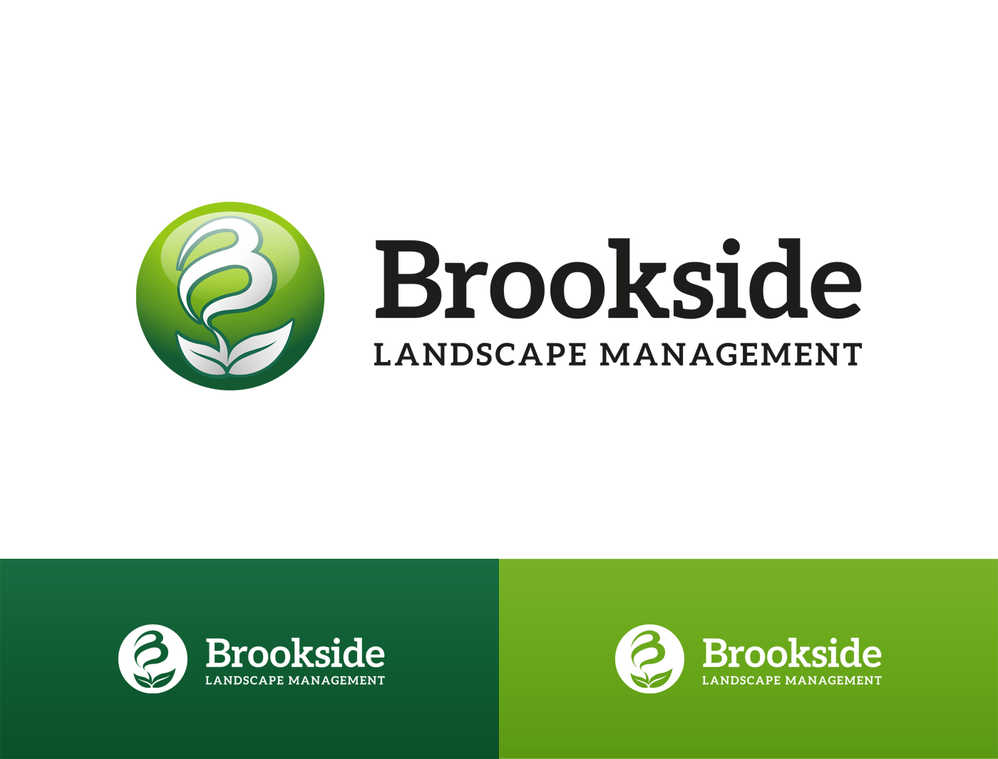 Logo Design by Alexander Osokin - Entry No. 81 in the Logo Design Contest New Logo Design for Brookside Landscape Management.