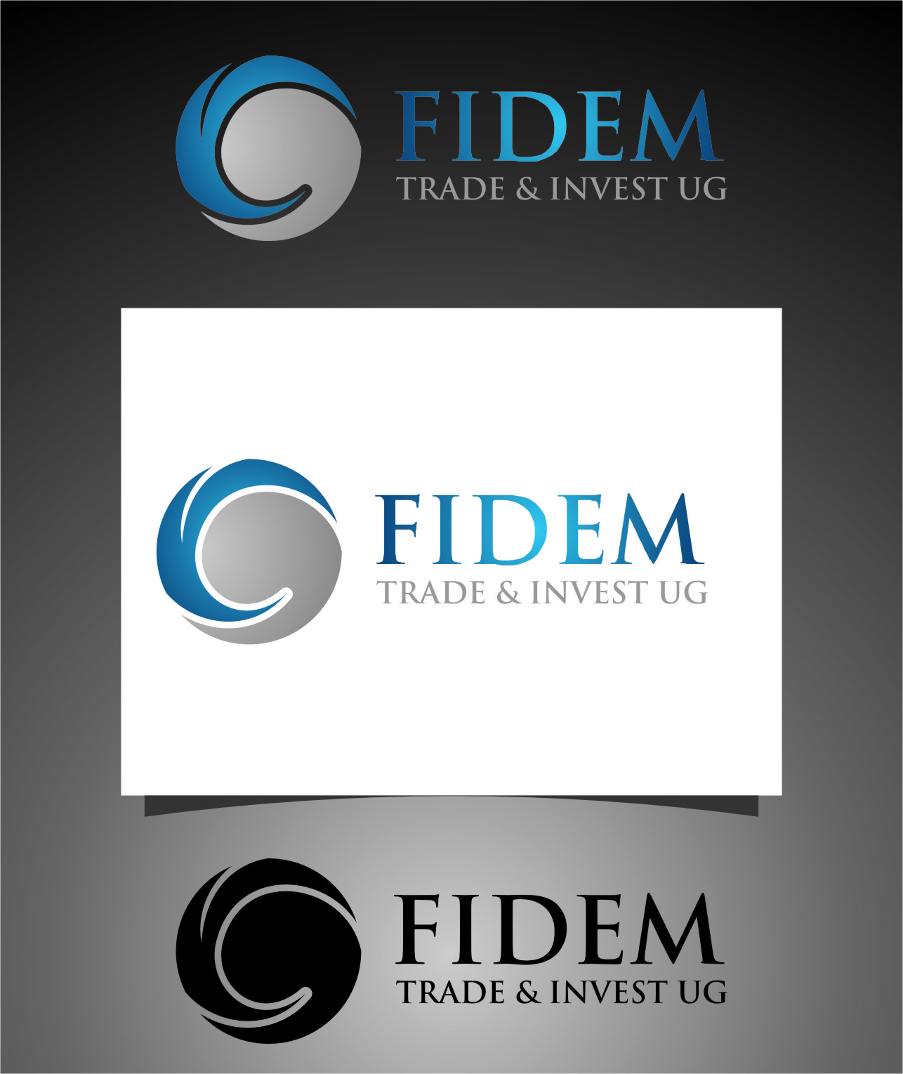 Logo Design by RoSyid Rono-Rene On Java - Entry No. 307 in the Logo Design Contest Professional Logo Design for FIDEM Trade & Invest UG.