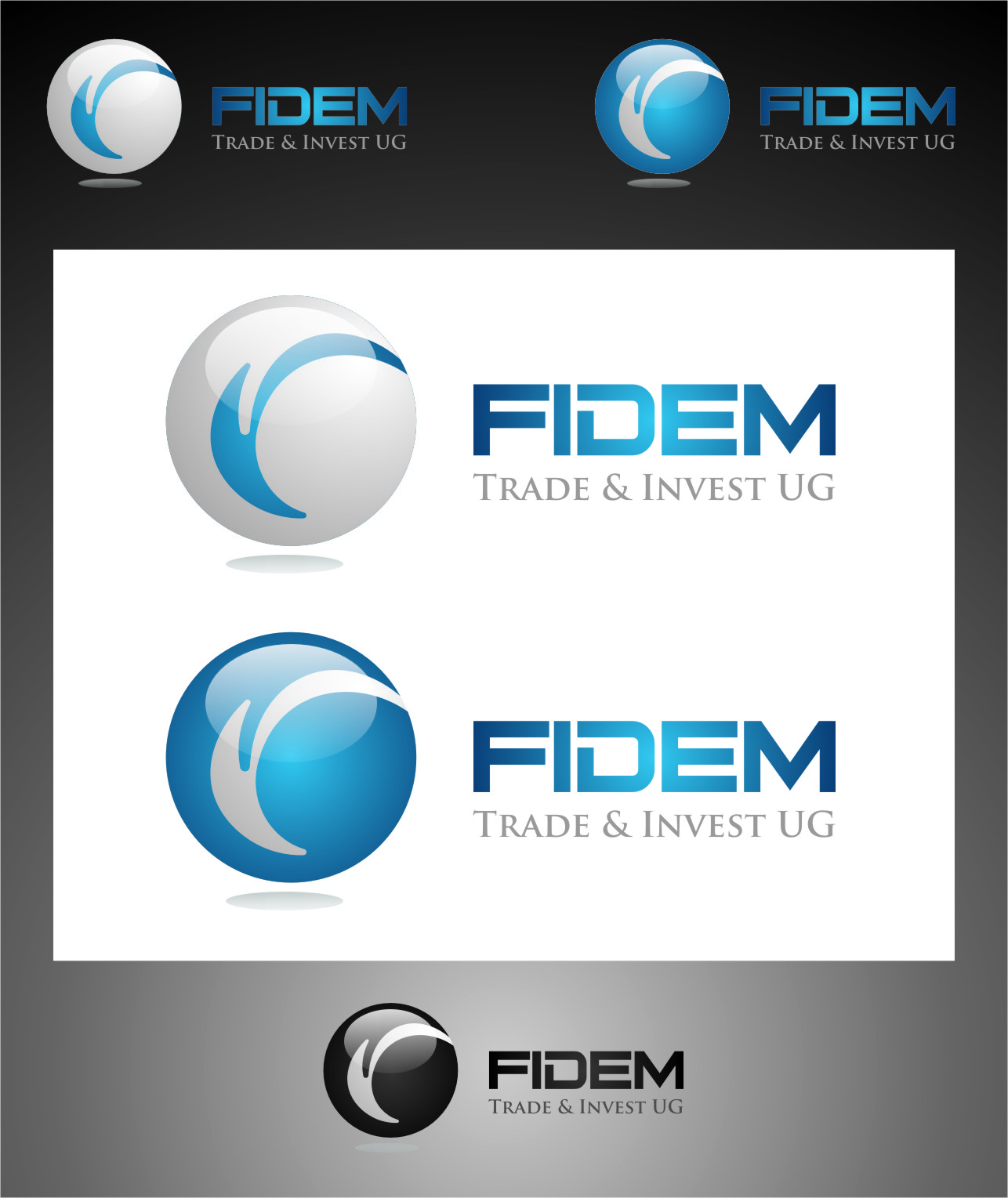 Logo Design by RasYa Muhammad Athaya - Entry No. 310 in the Logo Design Contest Professional Logo Design for FIDEM Trade & Invest UG.