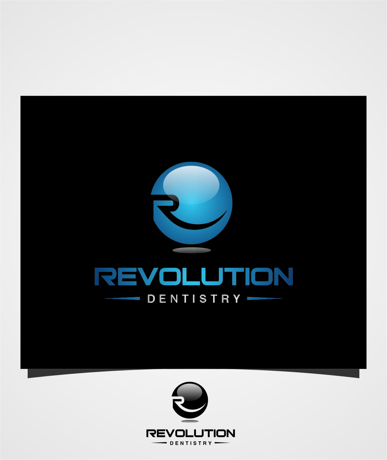 Logo Design by RasYa Muhammad Athaya - Entry No. 23 in the Logo Design Contest Artistic Logo Design for Revolution Dentistry.