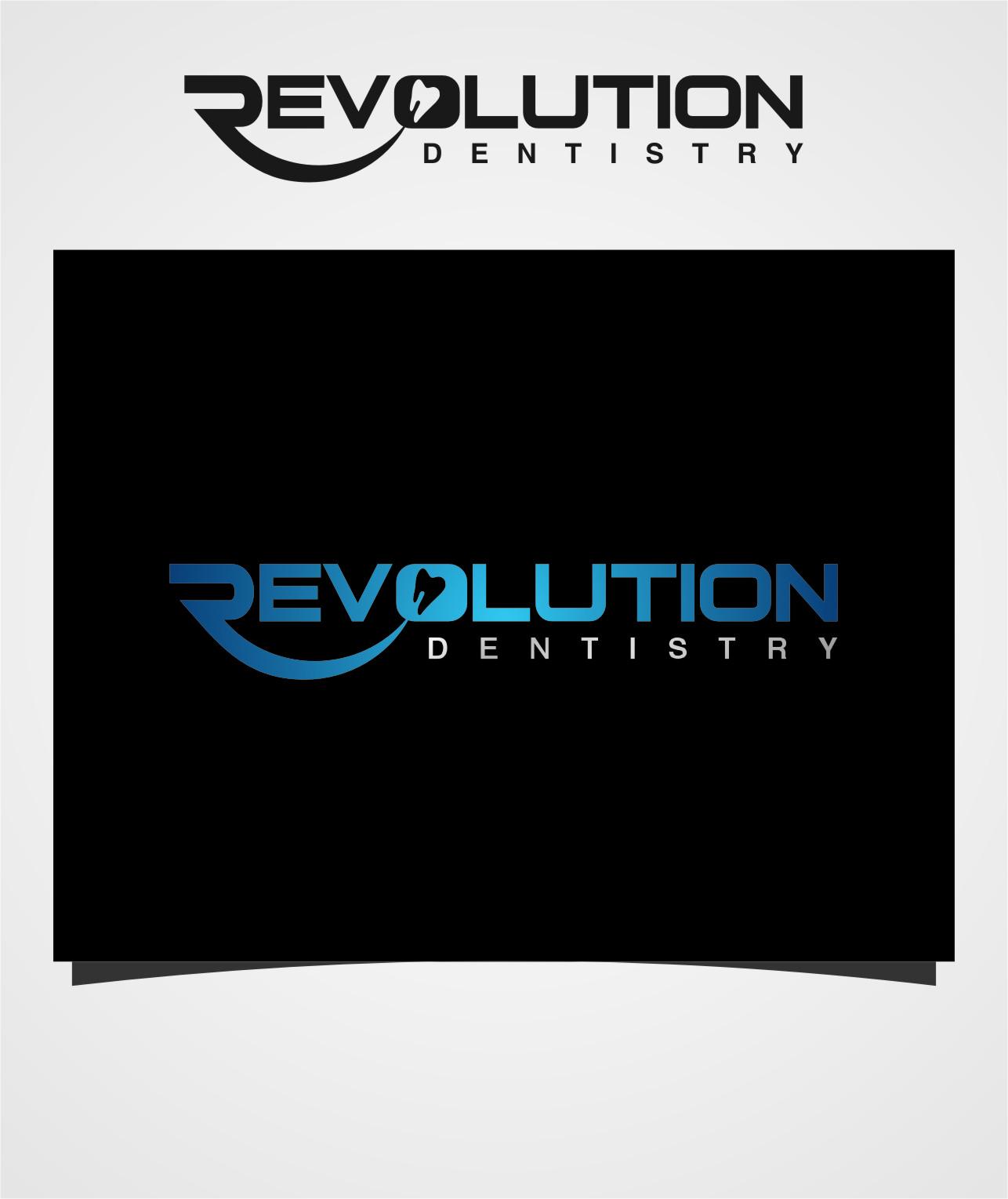 Logo Design by RasYa Muhammad Athaya - Entry No. 24 in the Logo Design Contest Artistic Logo Design for Revolution Dentistry.