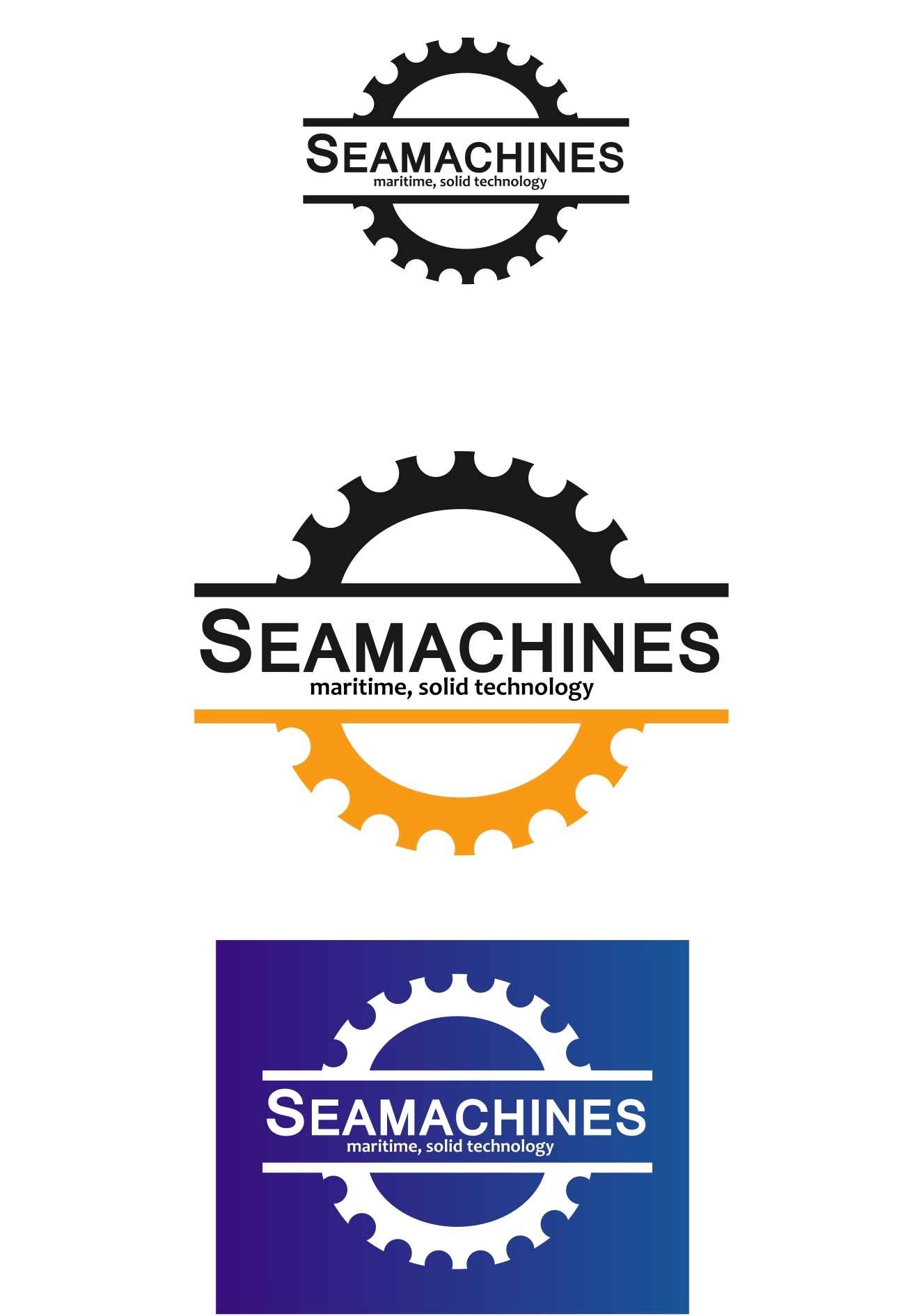 Logo Design by Private User - Entry No. 93 in the Logo Design Contest Creative Logo Design for SeaMachines.