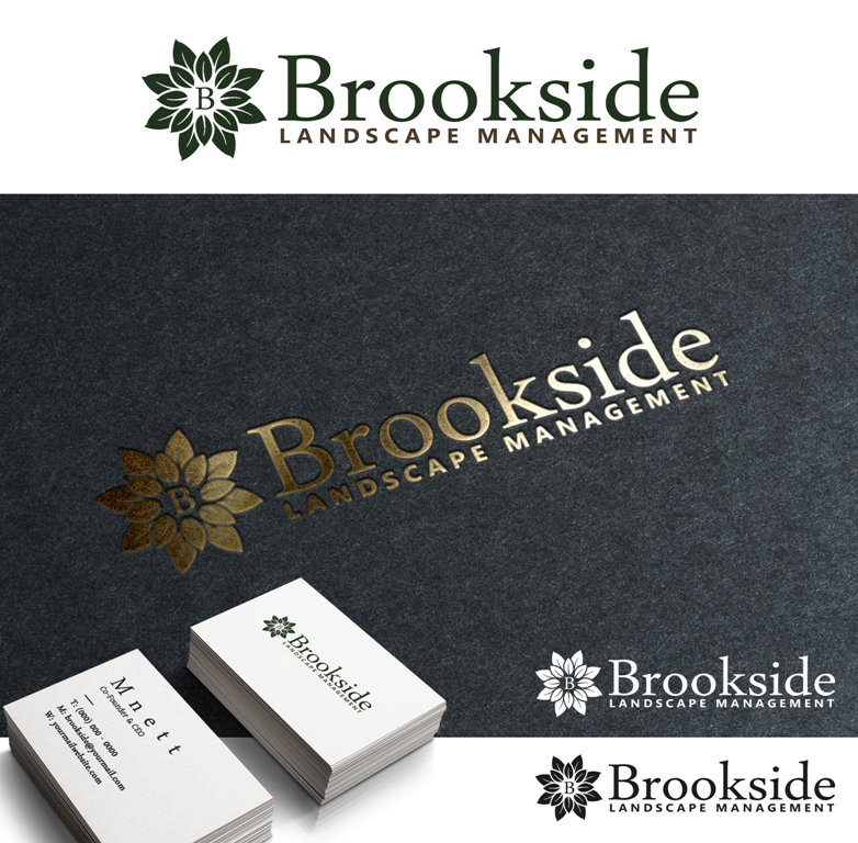 Logo Design by Juan_Kata - Entry No. 84 in the Logo Design Contest New Logo Design for Brookside Landscape Management.