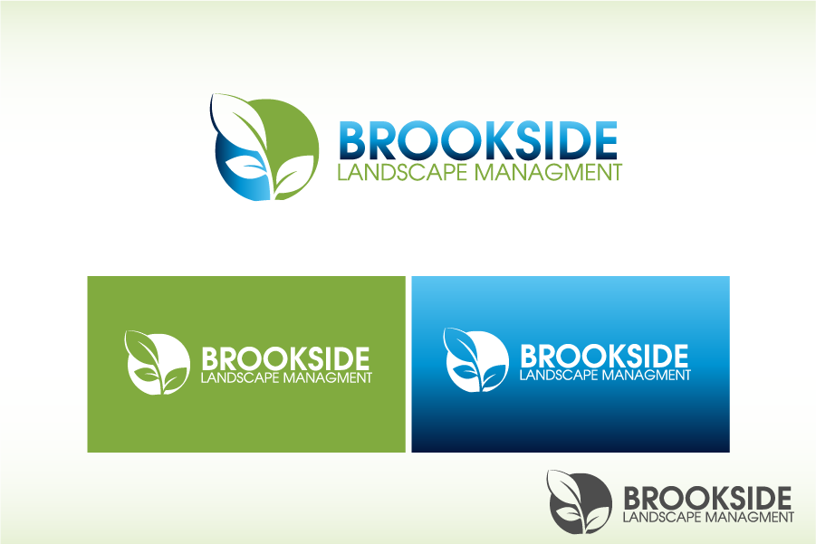 Logo Design by Private User - Entry No. 87 in the Logo Design Contest New Logo Design for Brookside Landscape Management.