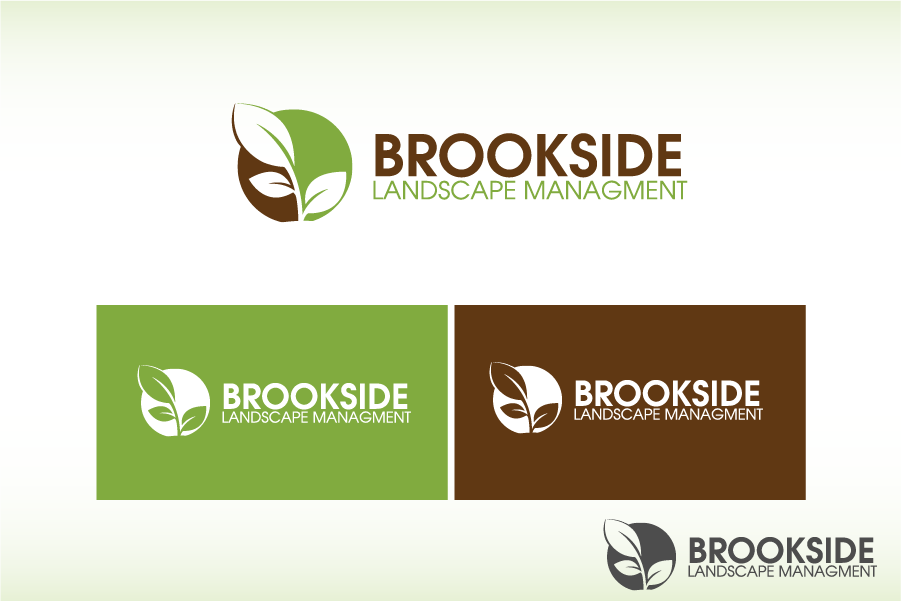 Logo Design by Private User - Entry No. 88 in the Logo Design Contest New Logo Design for Brookside Landscape Management.