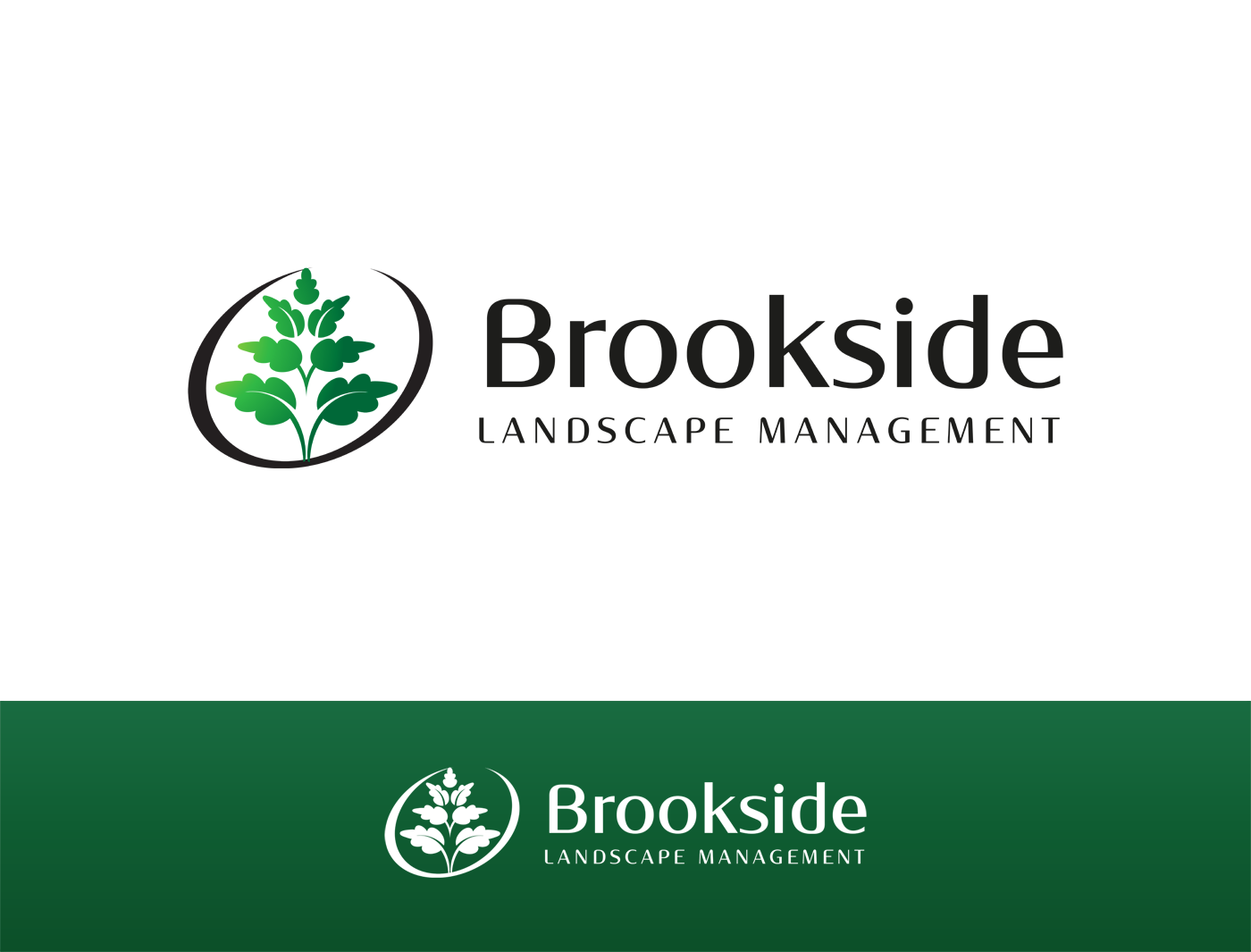 Logo Design by Alexander Osokin - Entry No. 91 in the Logo Design Contest New Logo Design for Brookside Landscape Management.
