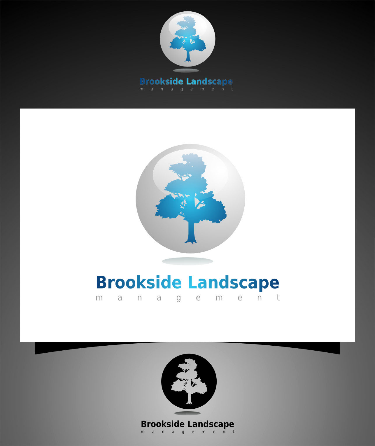 Logo Design by RasYa Muhammad Athaya - Entry No. 95 in the Logo Design Contest New Logo Design for Brookside Landscape Management.