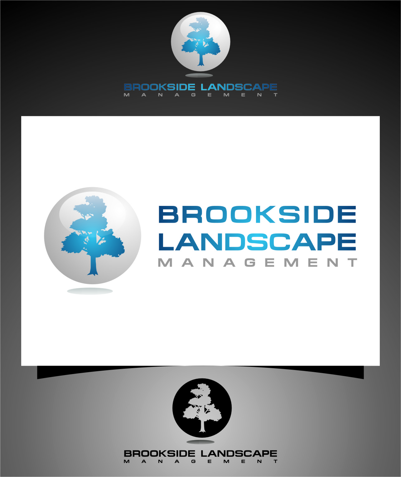 Logo Design by RasYa Muhammad Athaya - Entry No. 96 in the Logo Design Contest New Logo Design for Brookside Landscape Management.