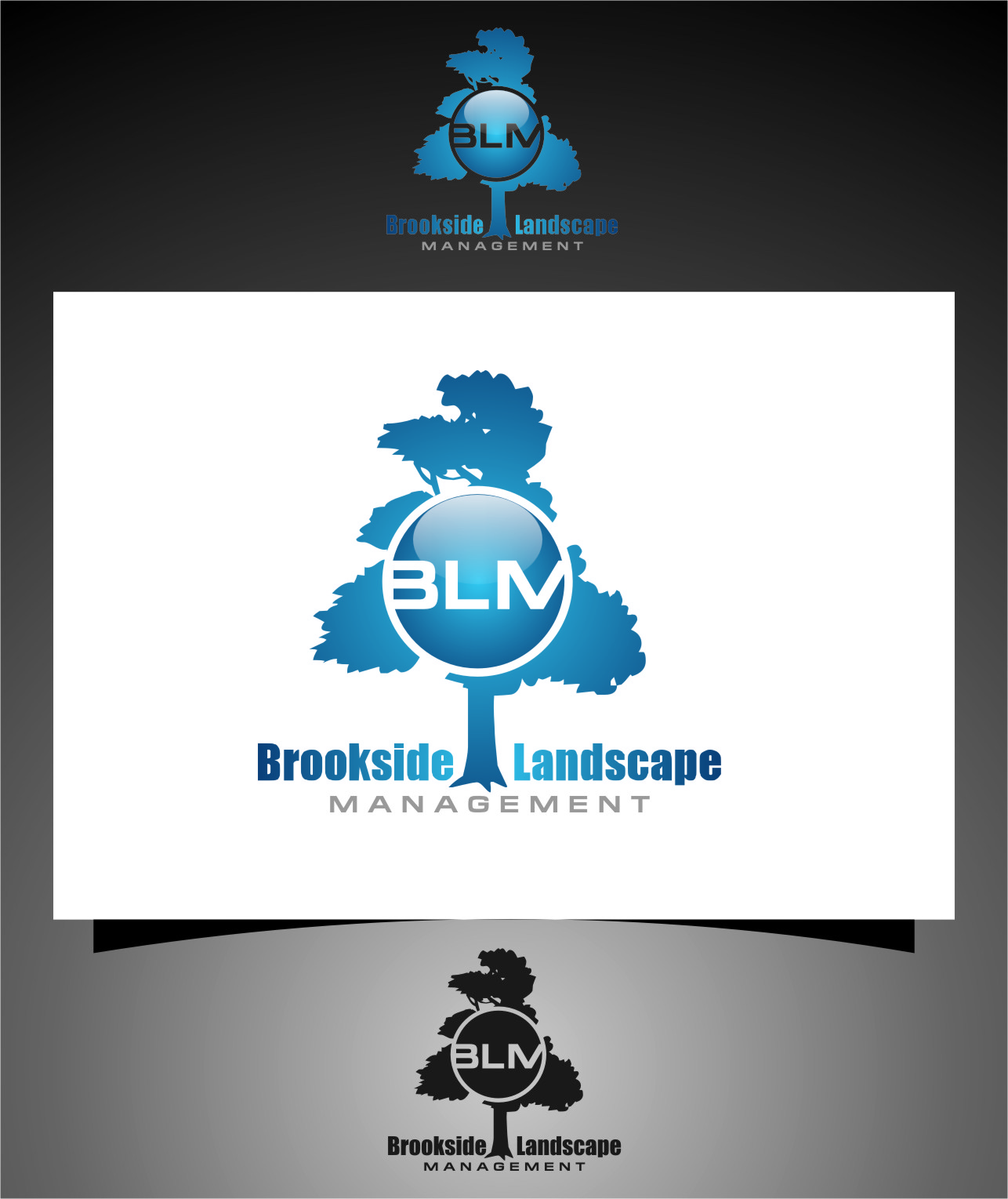 Logo Design by RasYa Muhammad Athaya - Entry No. 97 in the Logo Design Contest New Logo Design for Brookside Landscape Management.