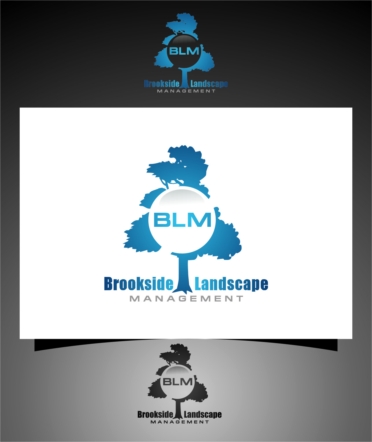 Logo Design by RasYa Muhammad Athaya - Entry No. 98 in the Logo Design Contest New Logo Design for Brookside Landscape Management.
