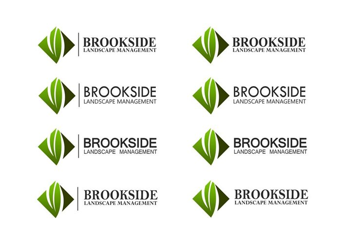 Logo Design by Respati Himawan - Entry No. 101 in the Logo Design Contest New Logo Design for Brookside Landscape Management.