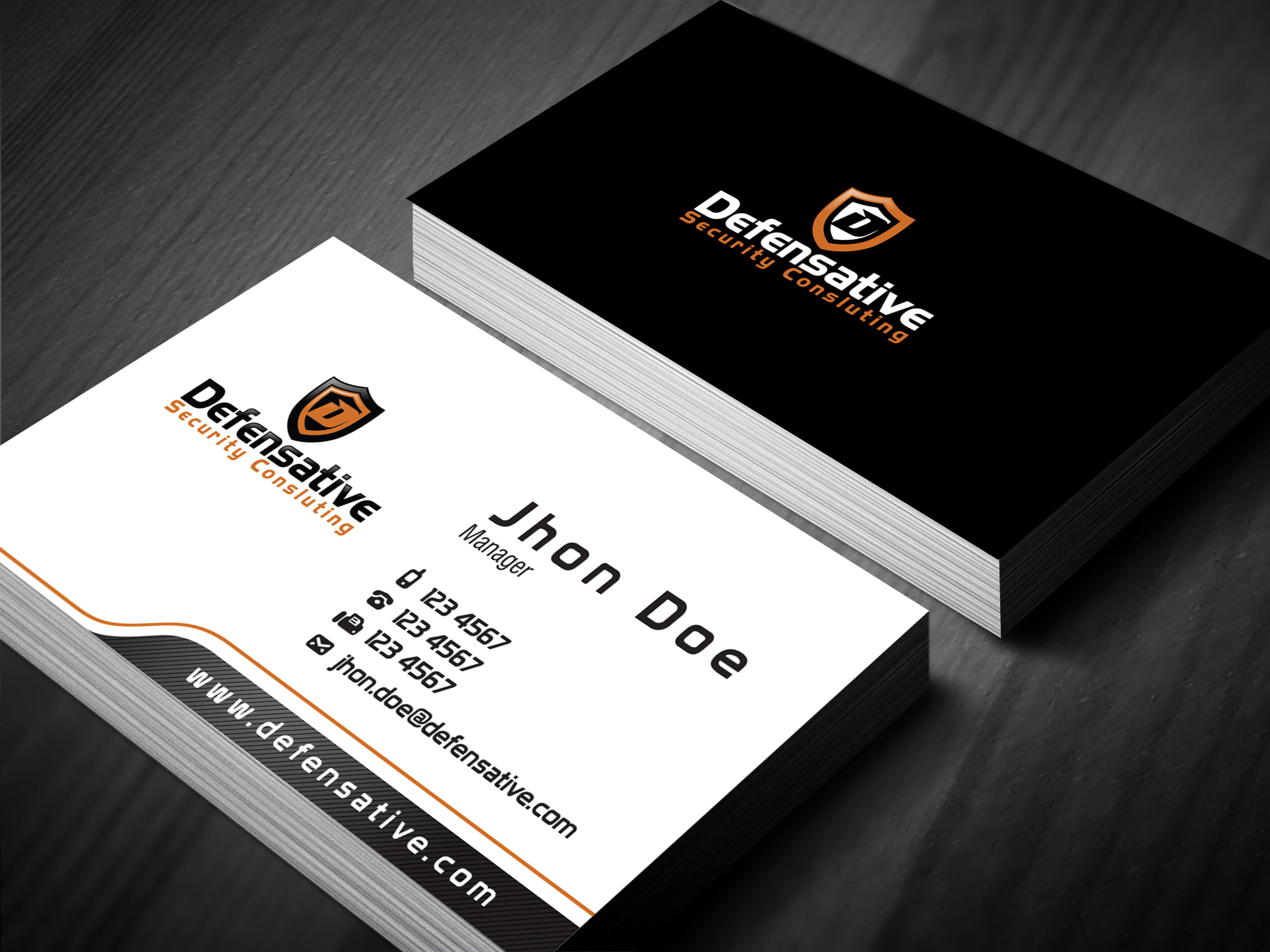 Custom Design by lagalag - Entry No. 15 in the Custom Design Contest Custom Design Business Cards+Logo+Stationary for Defensative.