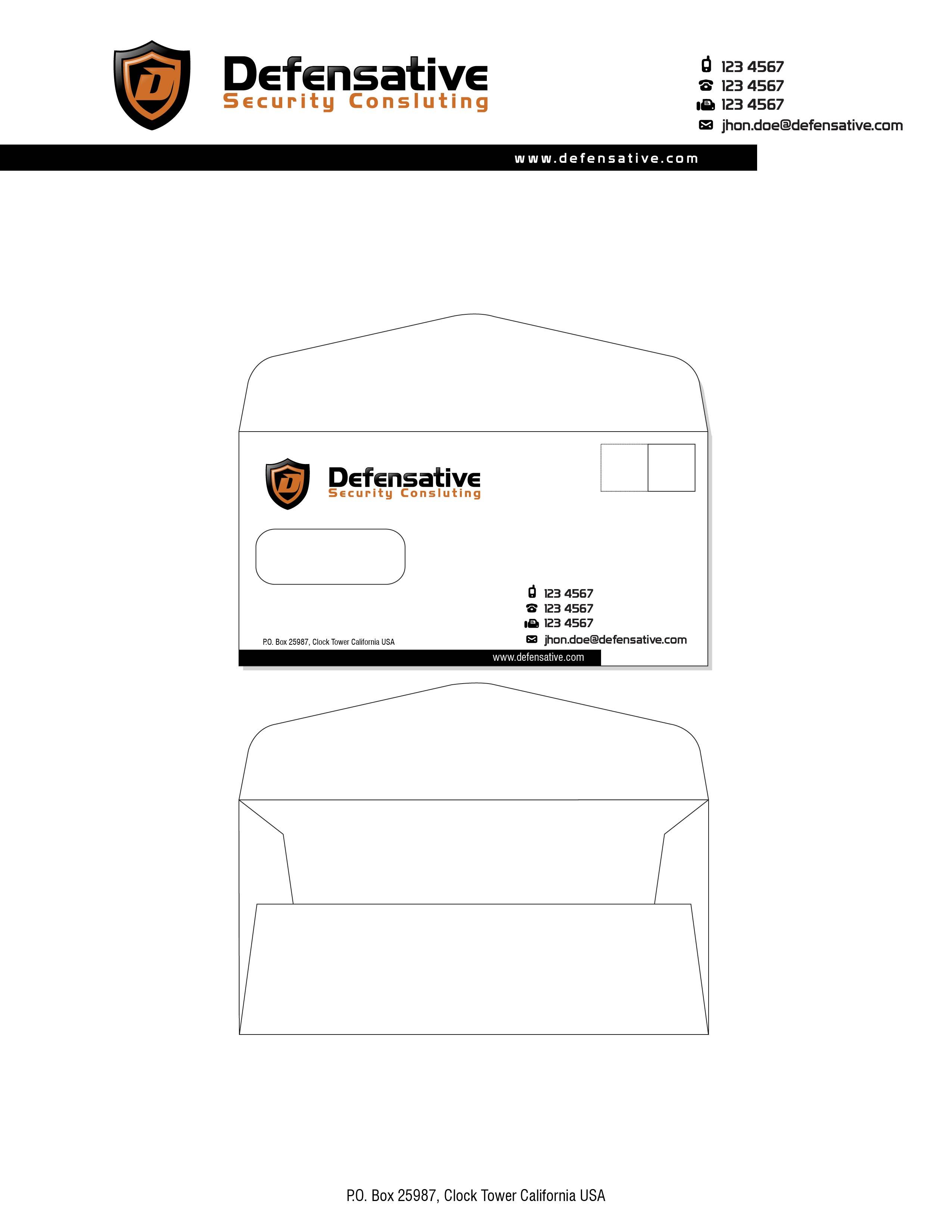 Custom Design by lagalag - Entry No. 16 in the Custom Design Contest Custom Design Business Cards+Logo+Stationary for Defensative.