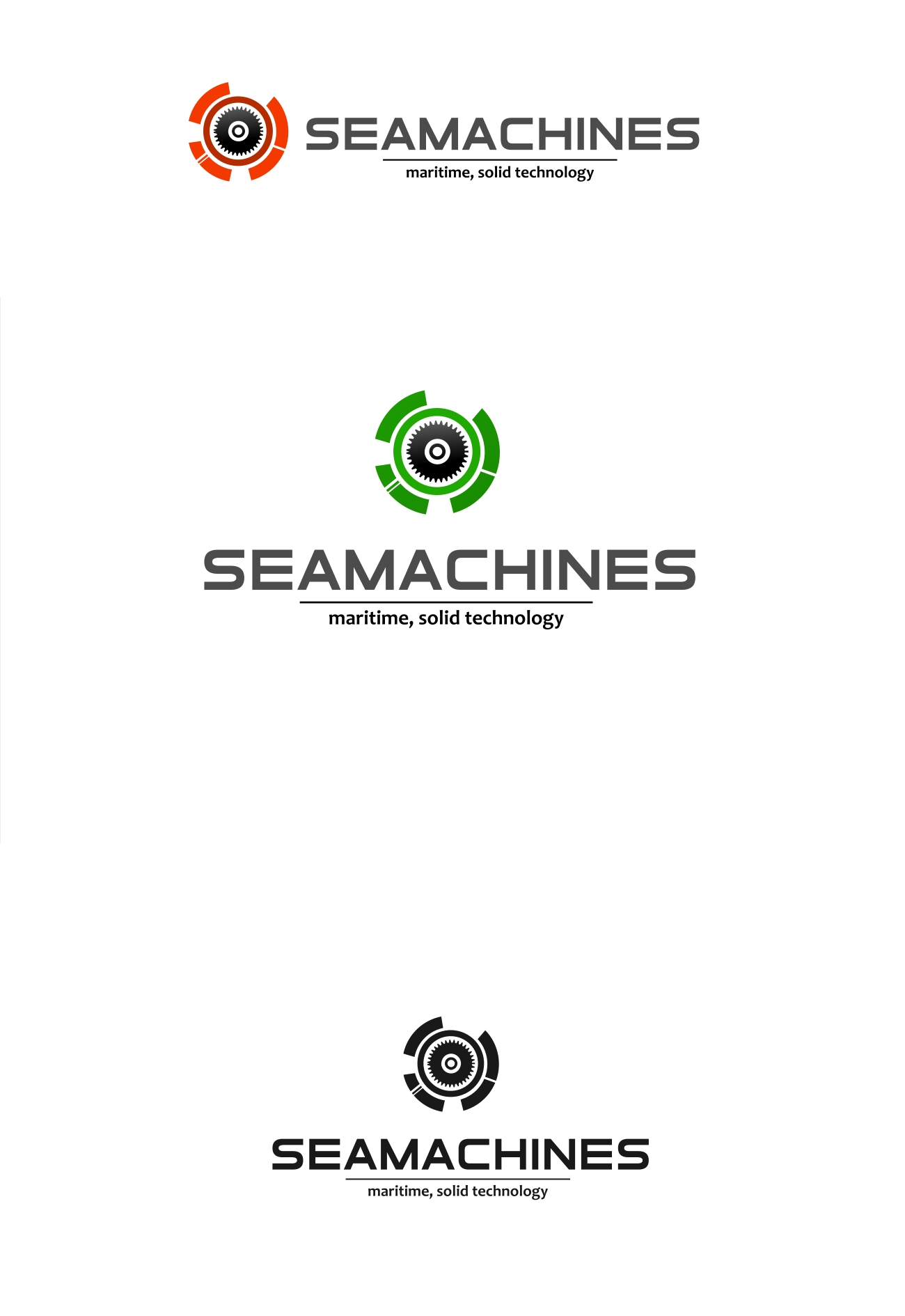 Logo Design by Private User - Entry No. 118 in the Logo Design Contest Creative Logo Design for SeaMachines.