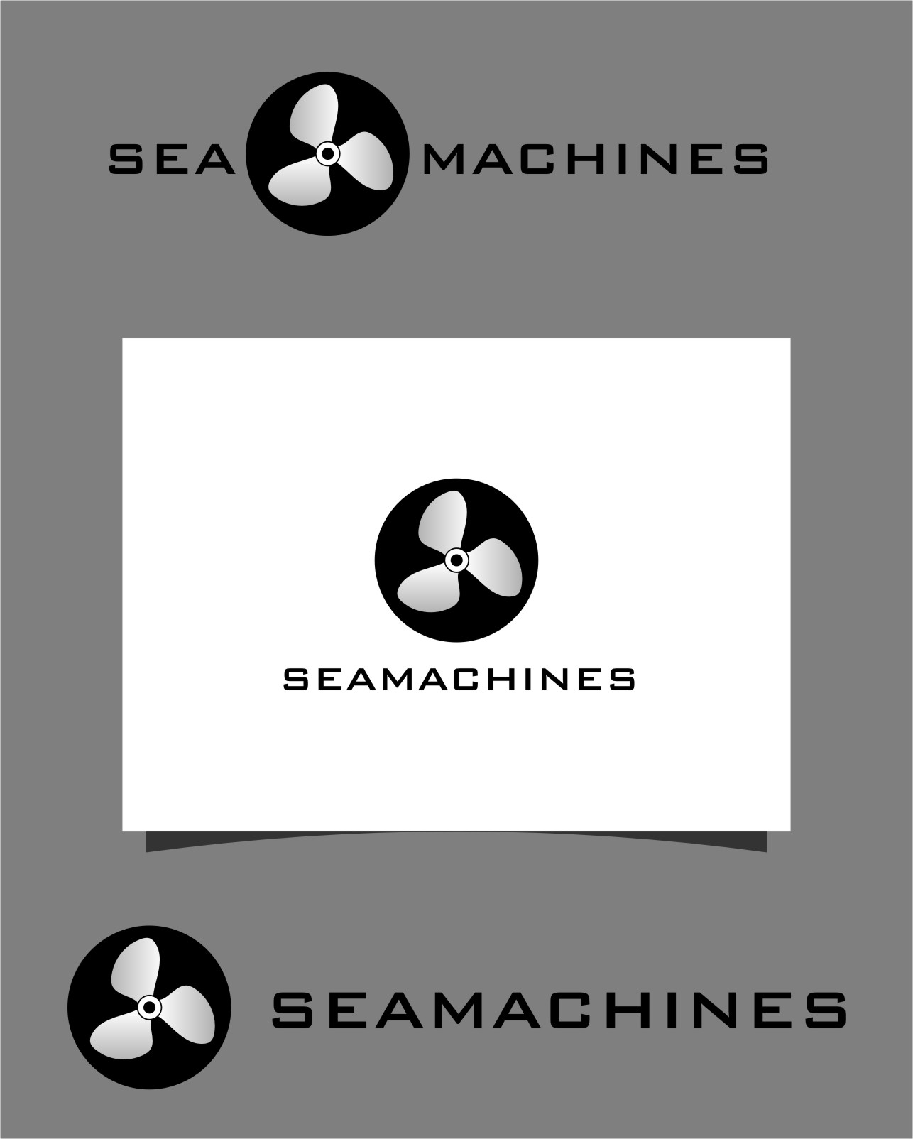 Logo Design by RasYa Muhammad Athaya - Entry No. 123 in the Logo Design Contest Creative Logo Design for SeaMachines.