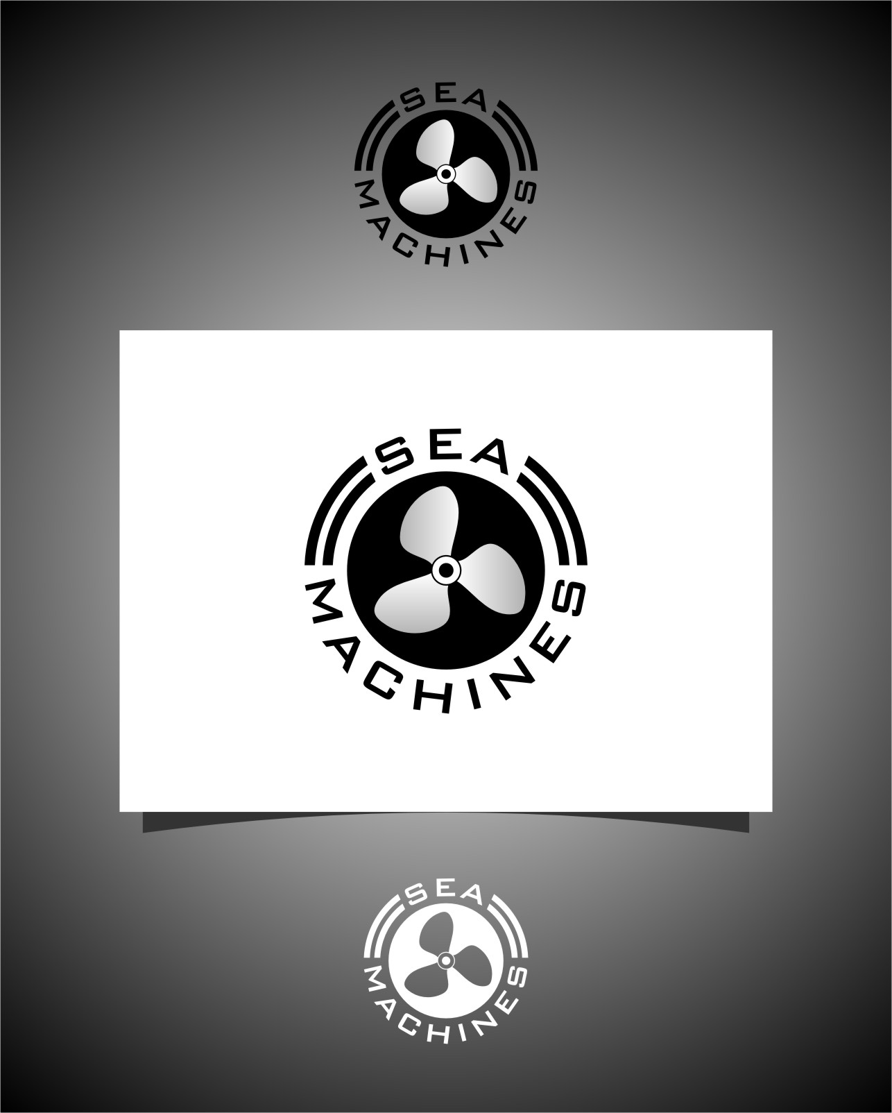 Logo Design by RasYa Muhammad Athaya - Entry No. 126 in the Logo Design Contest Creative Logo Design for SeaMachines.