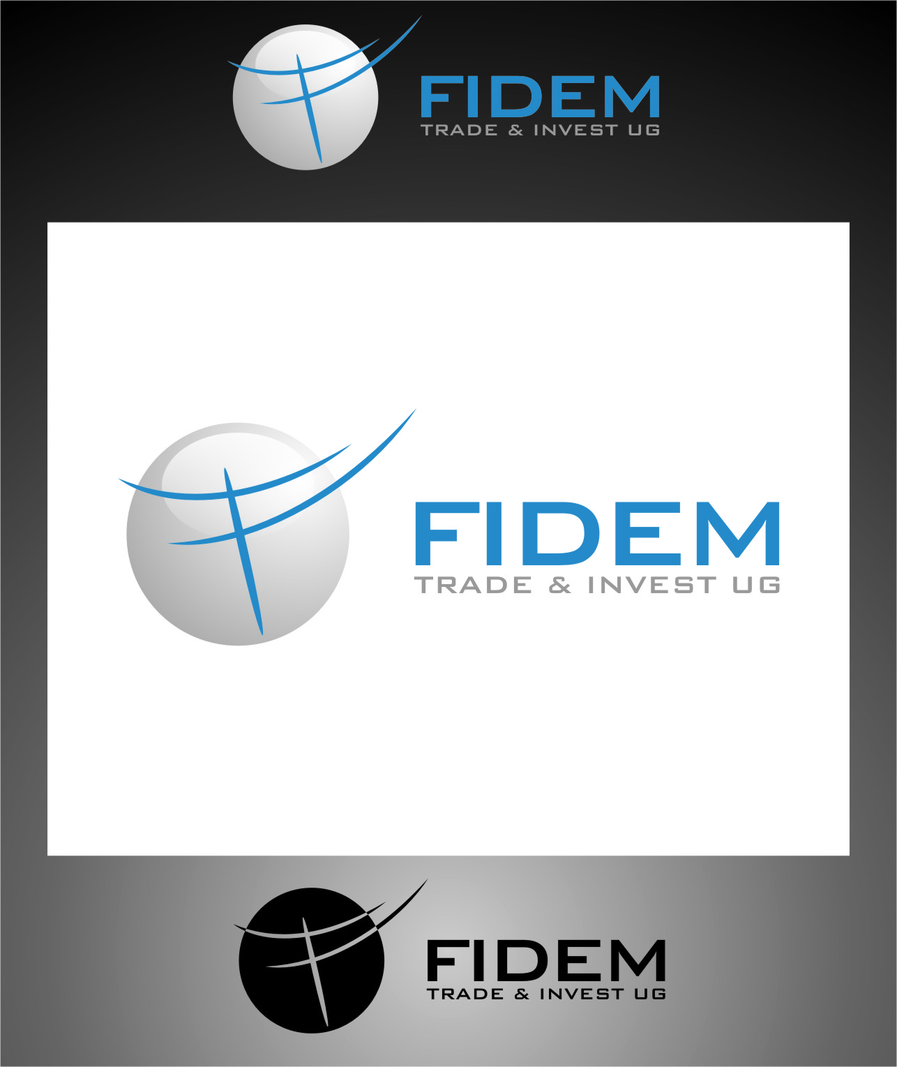 Logo Design by RoSyid Rono-Rene On Java - Entry No. 335 in the Logo Design Contest Professional Logo Design for FIDEM Trade & Invest UG.
