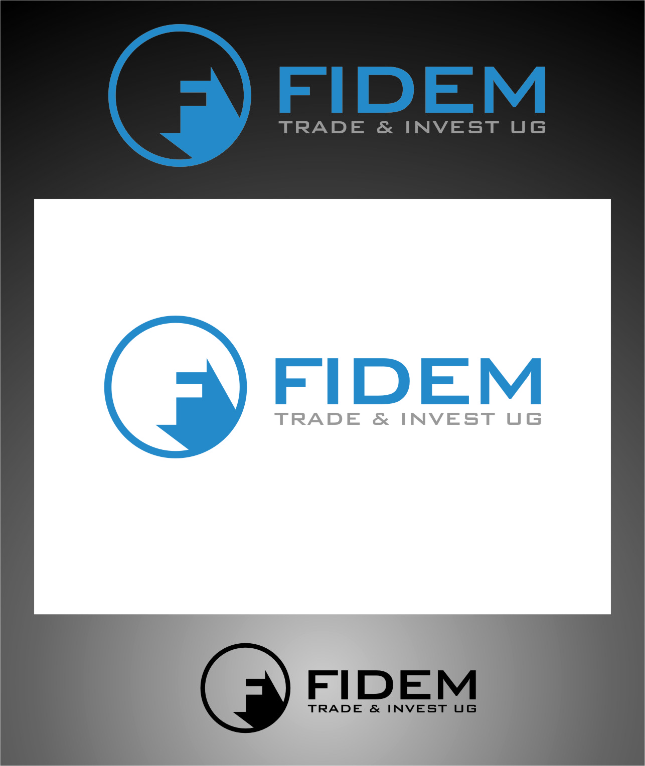 Logo Design by RoSyid Rono-Rene On Java - Entry No. 337 in the Logo Design Contest Professional Logo Design for FIDEM Trade & Invest UG.