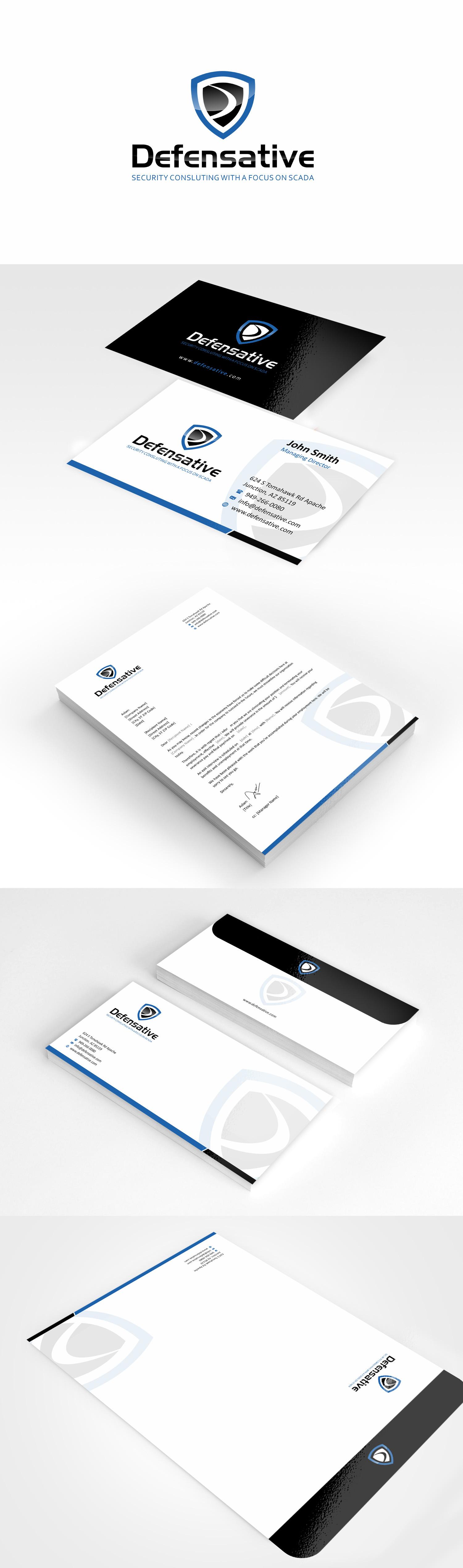 Custom Design by Muhammad Aslam - Entry No. 22 in the Custom Design Contest Custom Design Business Cards+Logo+Stationary for Defensative.