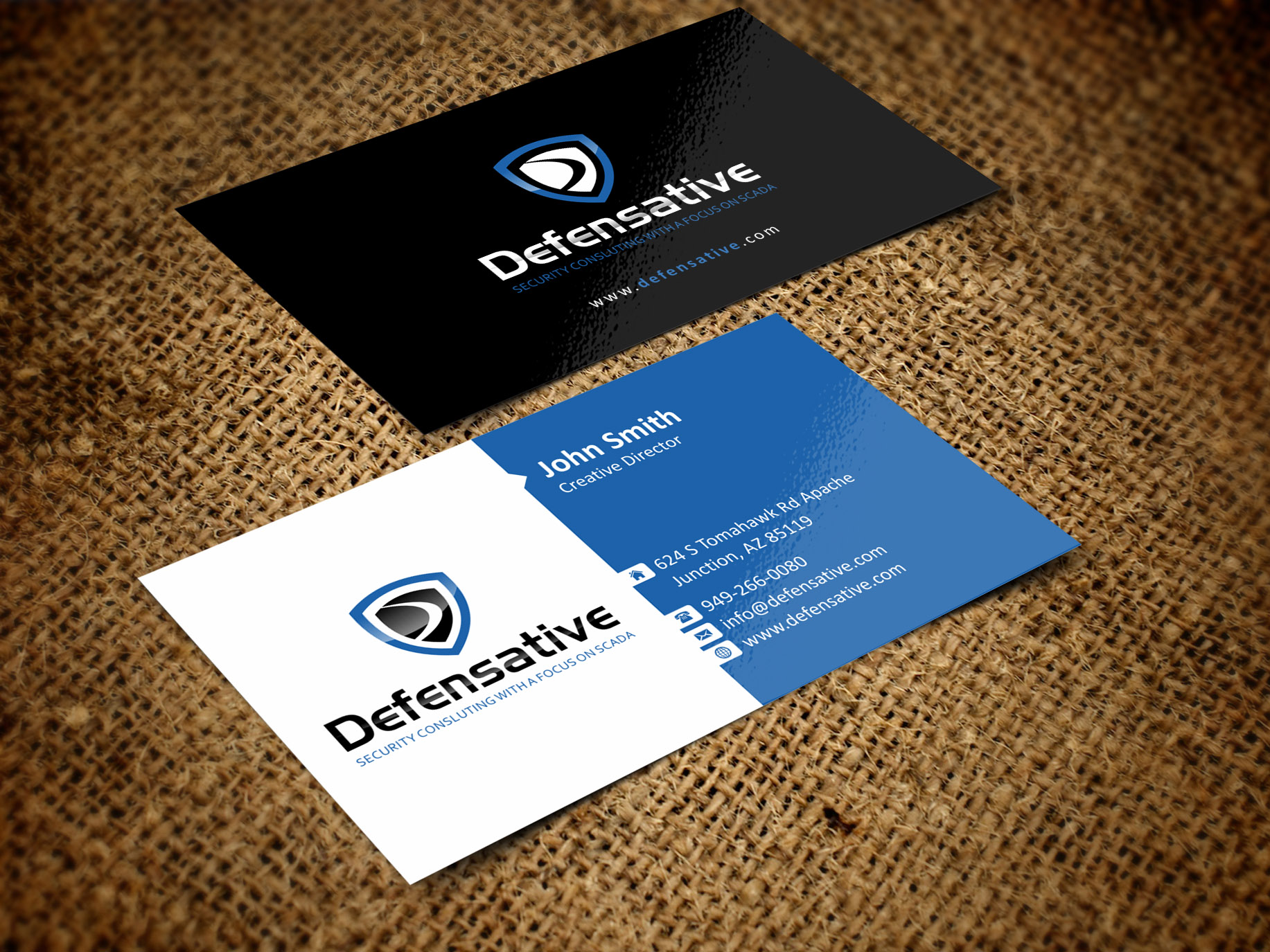 Custom Design by Muhammad Aslam - Entry No. 24 in the Custom Design Contest Custom Design Business Cards+Logo+Stationary for Defensative.