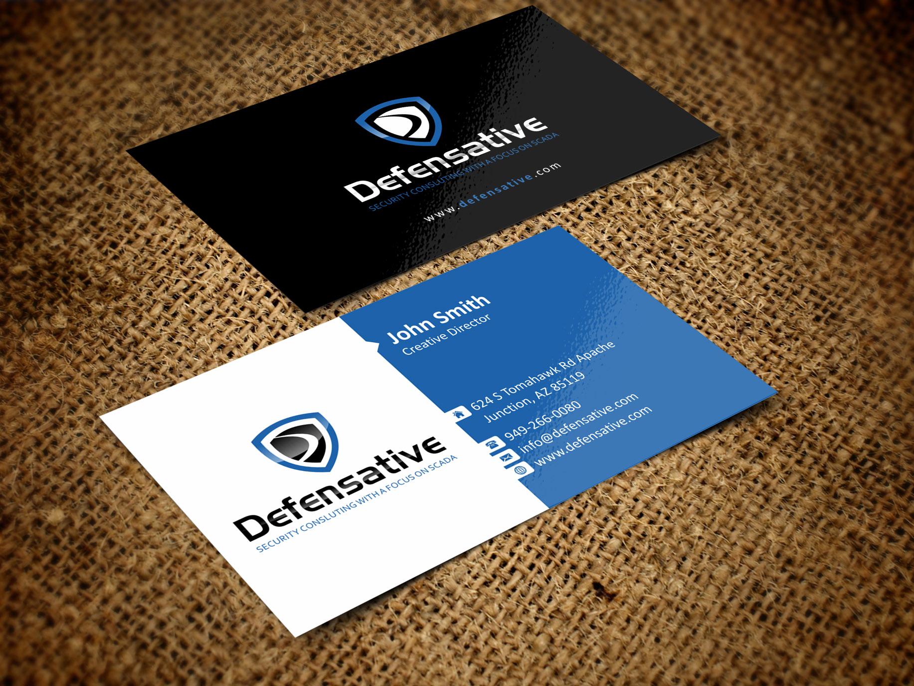 Custom Design by Muhammad Aslam - Entry No. 24 in the Custom Design Contest Custom Design Business Cards+Logo+Stationary for Defensative.
