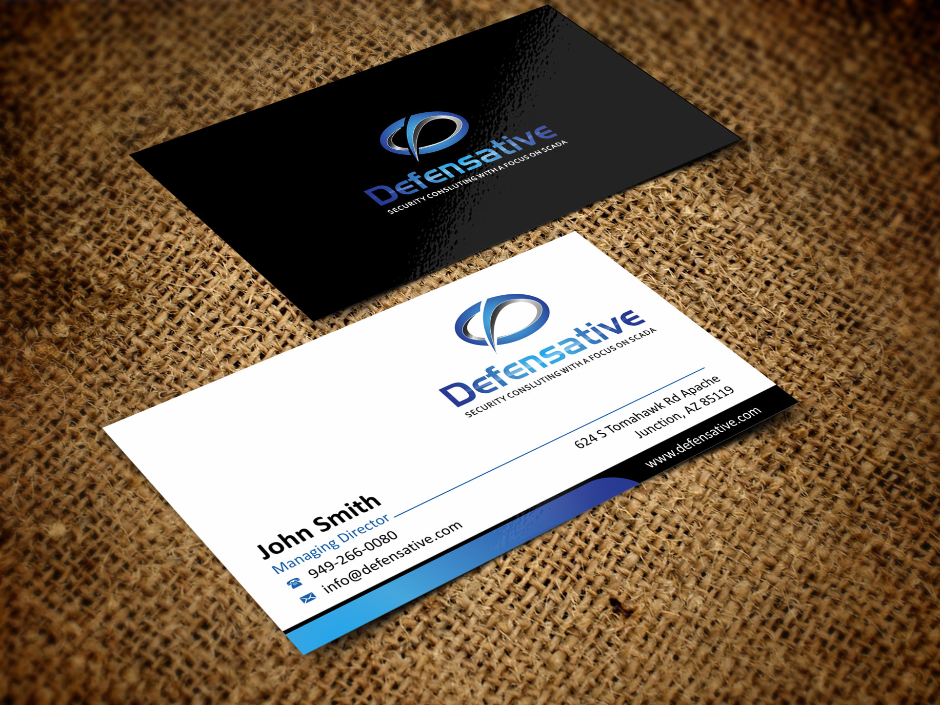 Custom Design by Muhammad Aslam - Entry No. 25 in the Custom Design Contest Custom Design Business Cards+Logo+Stationary for Defensative.