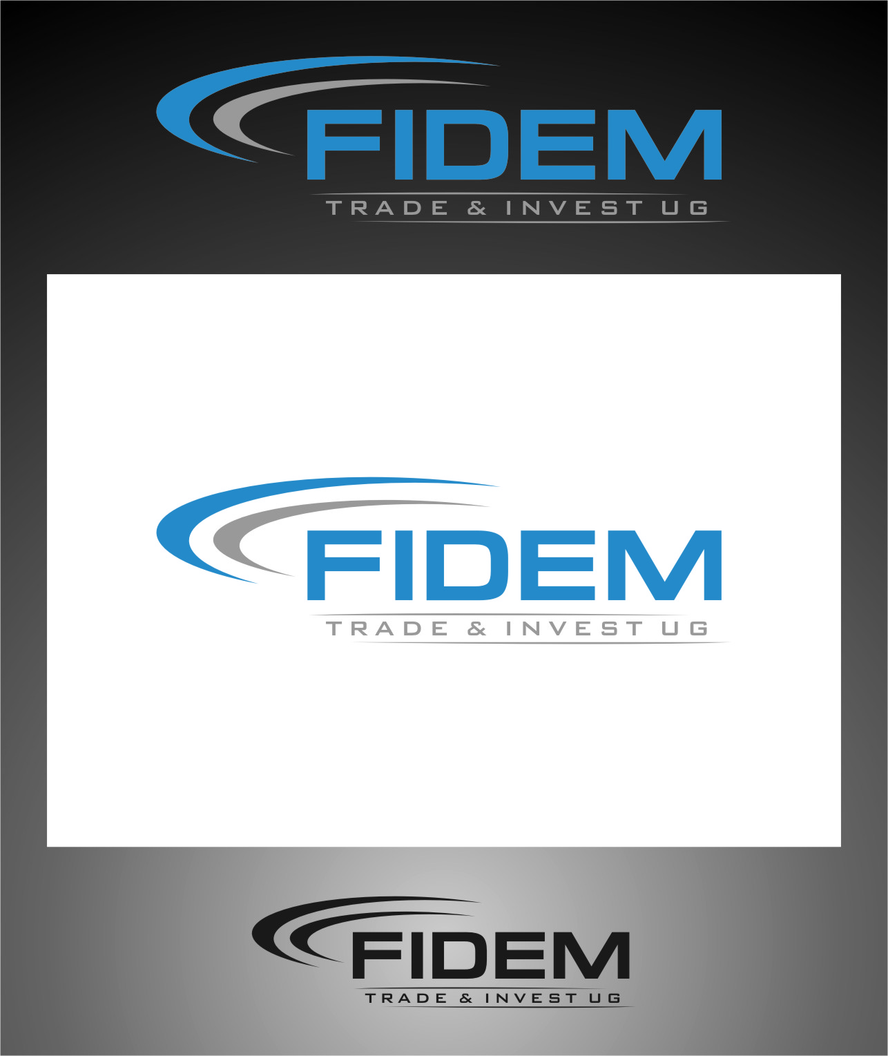 Logo Design by RasYa Muhammad Athaya - Entry No. 355 in the Logo Design Contest Professional Logo Design for FIDEM Trade & Invest UG.