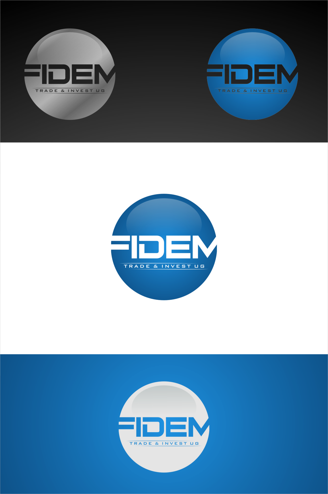Logo Design by RasYa Muhammad Athaya - Entry No. 359 in the Logo Design Contest Professional Logo Design for FIDEM Trade & Invest UG.