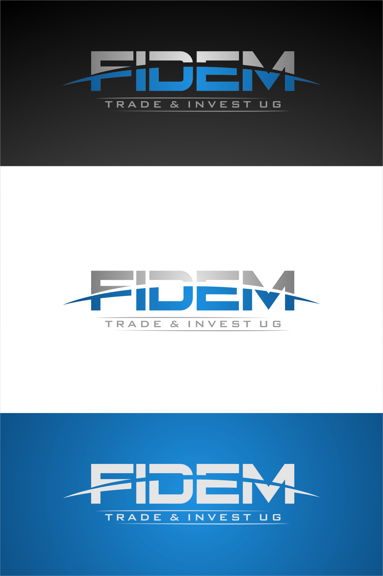 Logo Design by RasYa Muhammad Athaya - Entry No. 361 in the Logo Design Contest Professional Logo Design for FIDEM Trade & Invest UG.