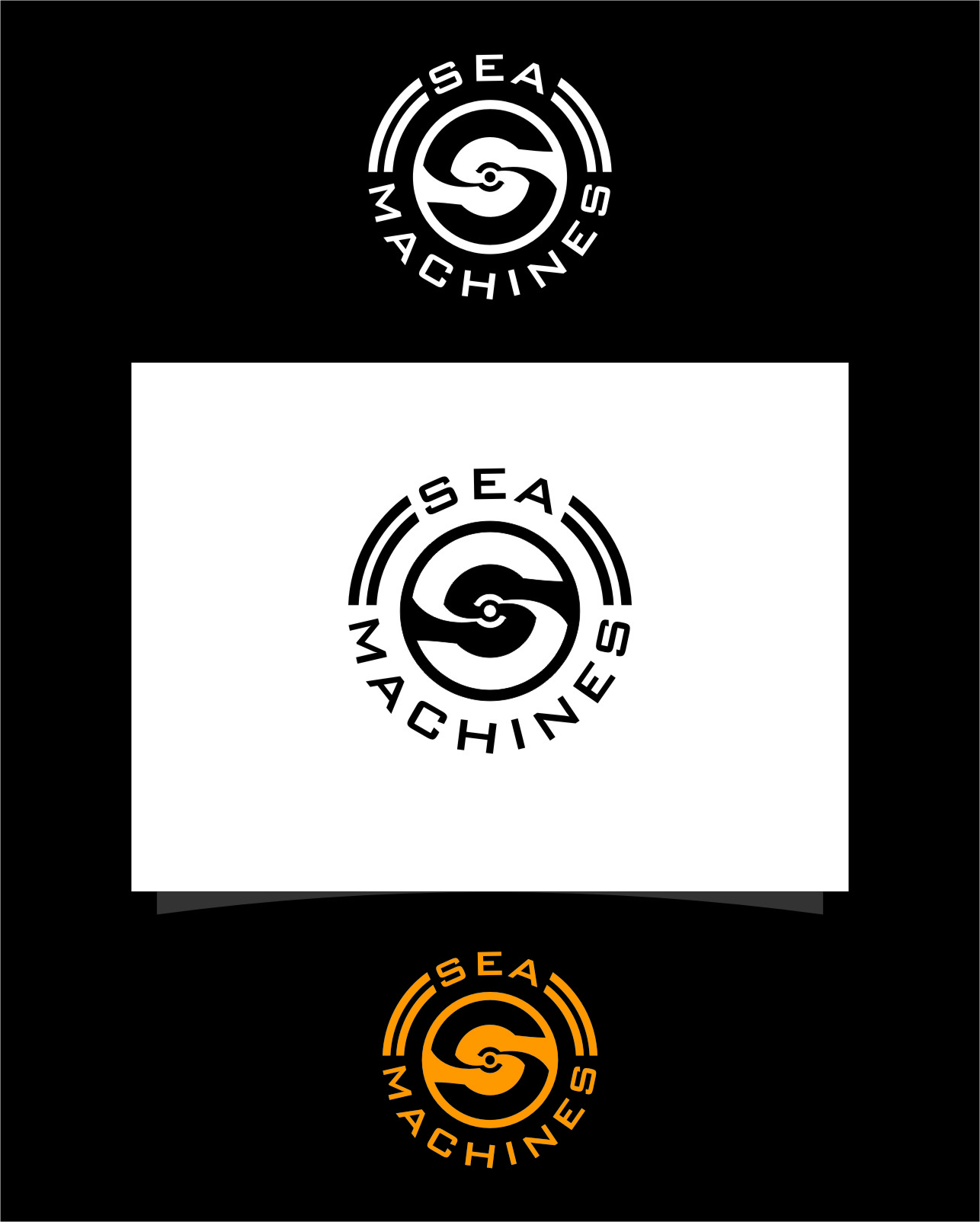 Logo Design by RasYa Muhammad Athaya - Entry No. 165 in the Logo Design Contest Creative Logo Design for SeaMachines.