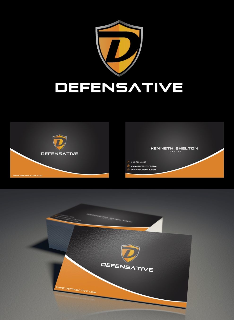 Custom Design by Juan_Kata - Entry No. 30 in the Custom Design Contest Custom Design Business Cards+Logo+Stationary for Defensative.