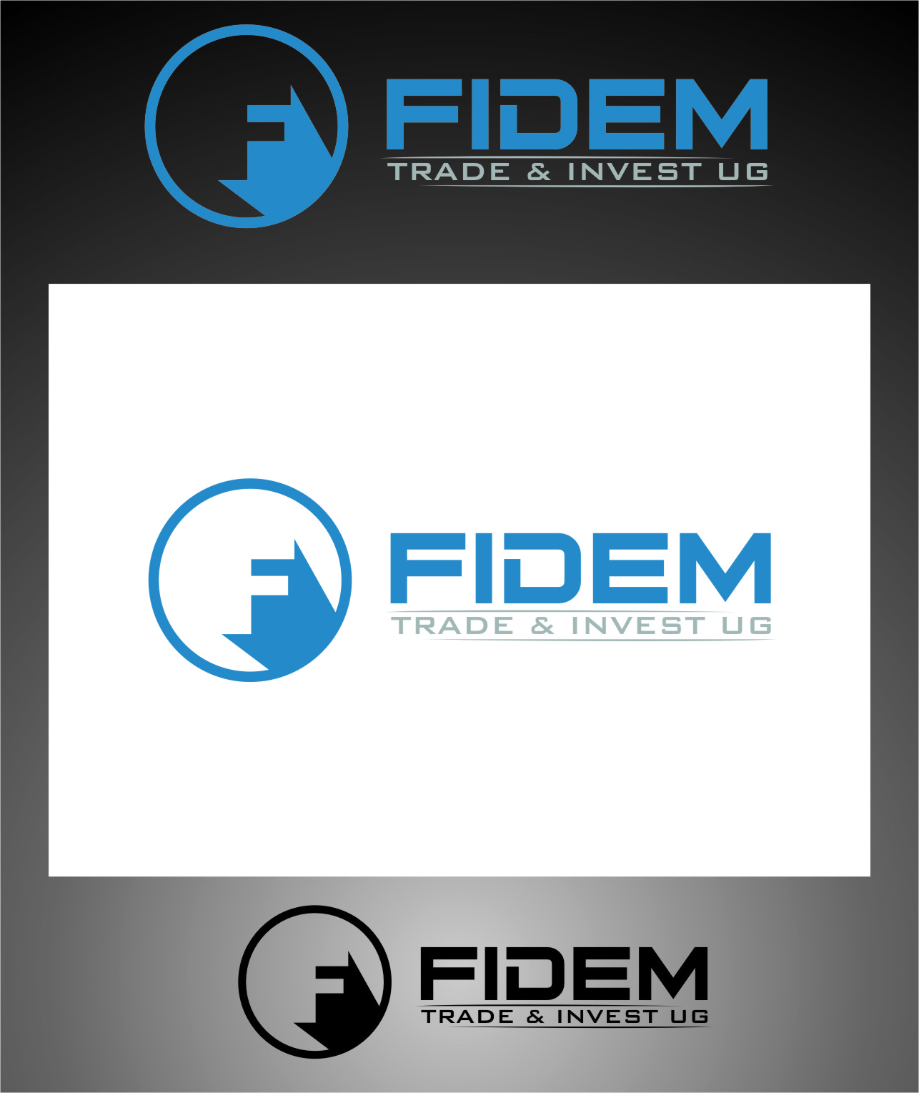 Logo Design by RoSyid Rono-Rene On Java - Entry No. 395 in the Logo Design Contest Professional Logo Design for FIDEM Trade & Invest UG.