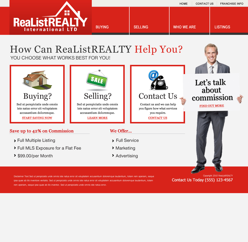 Web Page Design by wem24 - Entry No. 85 in the Web Page Design Contest Realist Realty International Ltd..