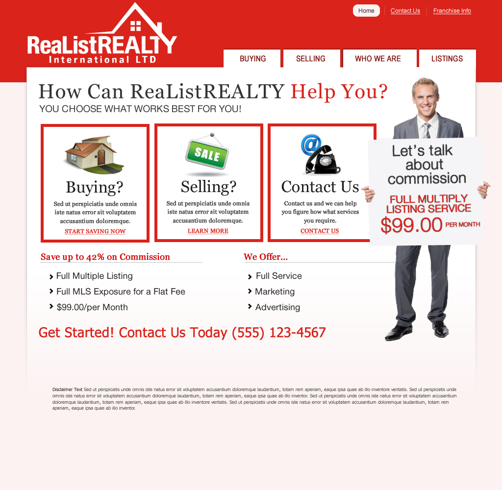 Web Page Design by wem24 - Entry No. 86 in the Web Page Design Contest Realist Realty International Ltd..