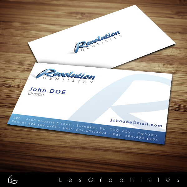 Logo Design by Les-Graphistes - Entry No. 165 in the Logo Design Contest Artistic Logo Design for Revolution Dentistry.