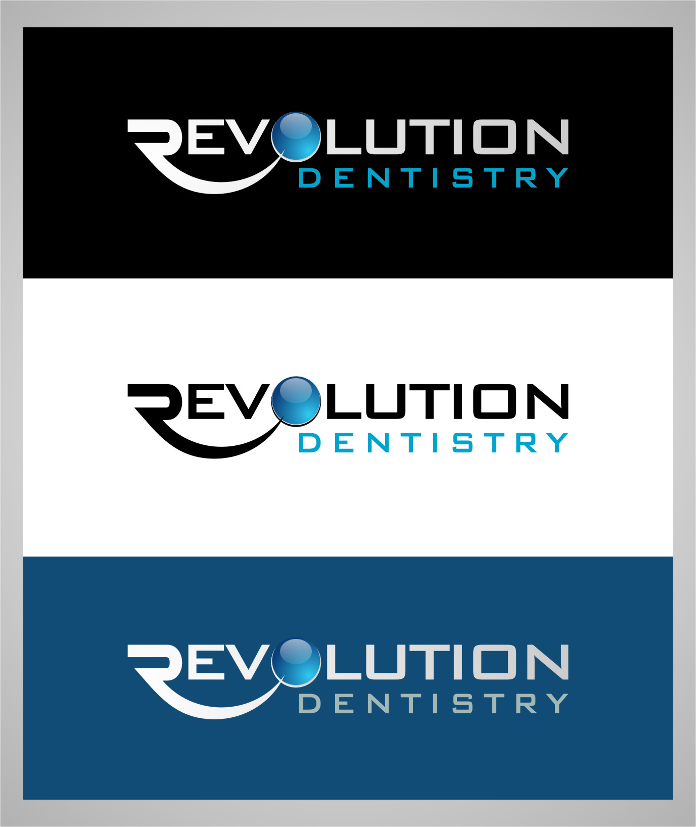 Logo Design by RoSyid Rono-Rene On Java - Entry No. 190 in the Logo Design Contest Artistic Logo Design for Revolution Dentistry.