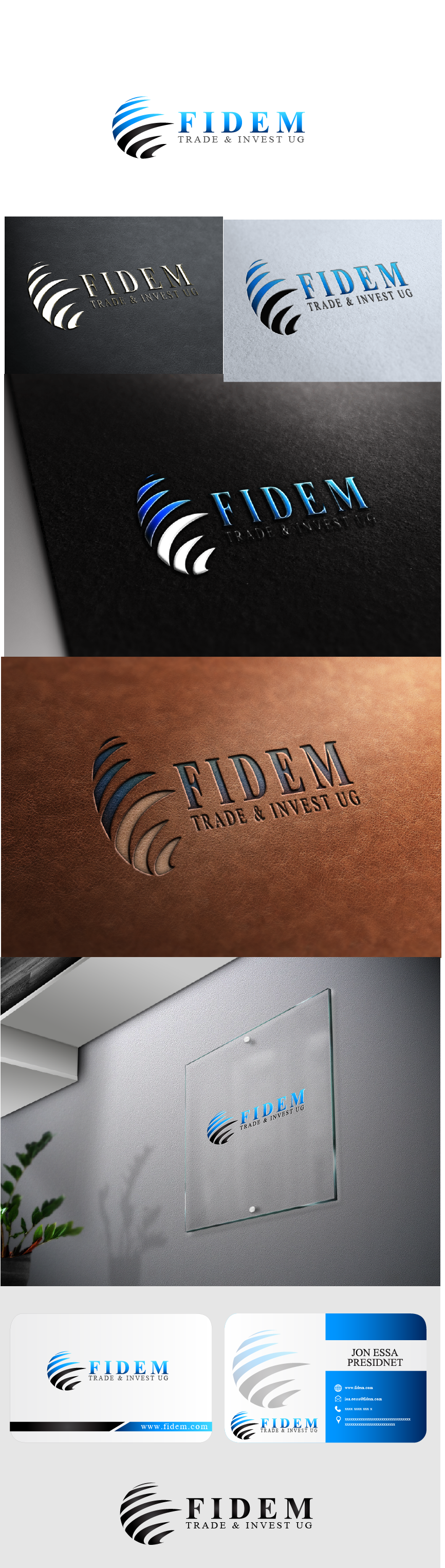 Logo Design by Private User - Entry No. 423 in the Logo Design Contest Professional Logo Design for FIDEM Trade & Invest UG.