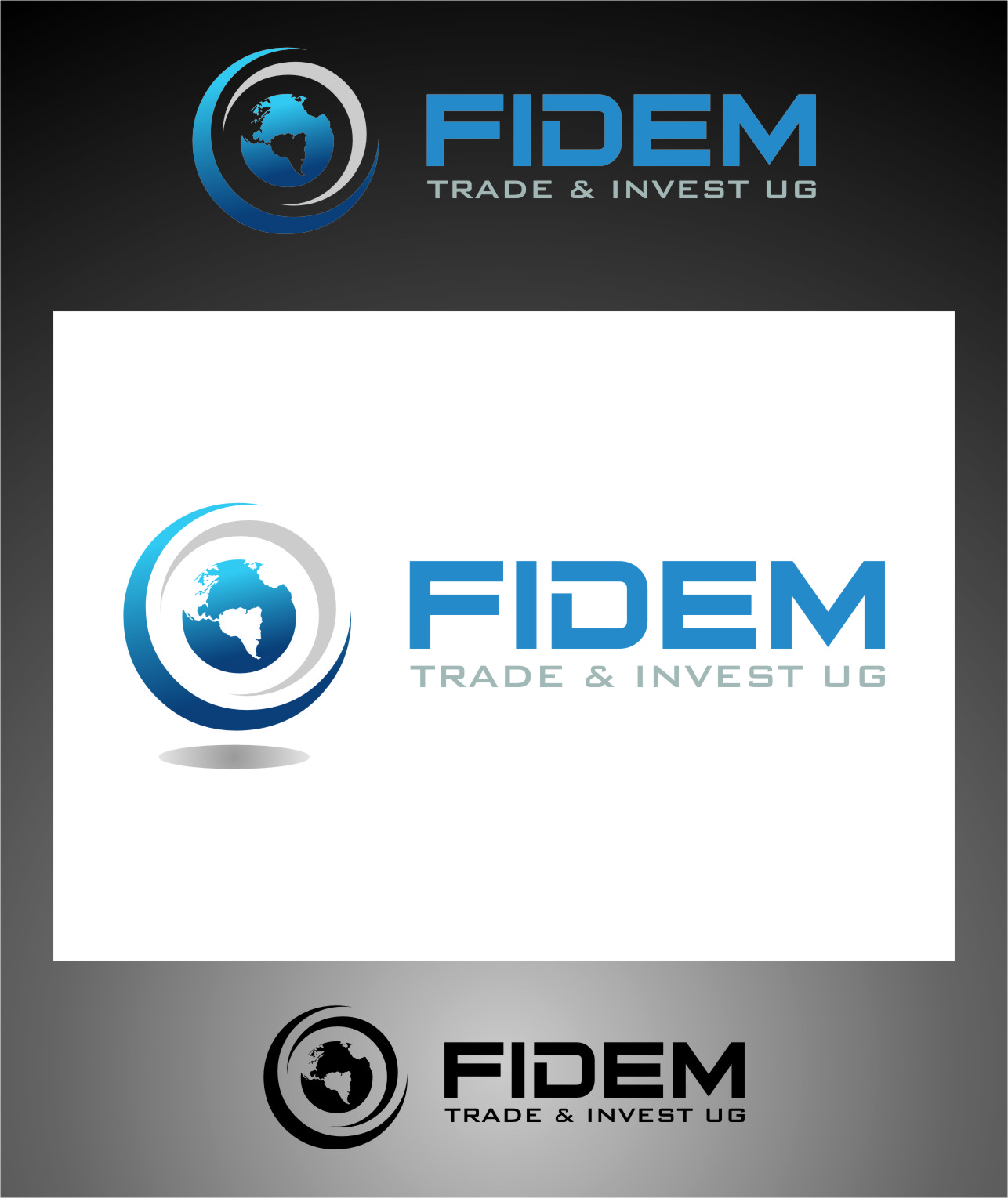 Logo Design by RasYa Muhammad Athaya - Entry No. 426 in the Logo Design Contest Professional Logo Design for FIDEM Trade & Invest UG.