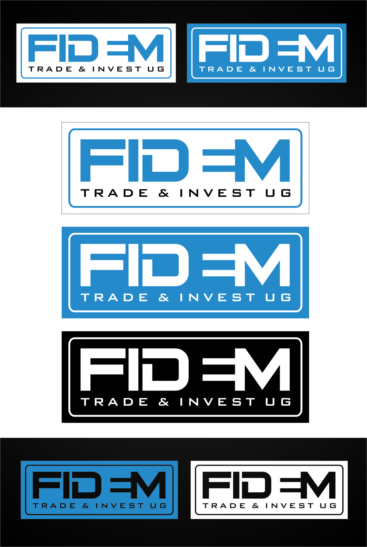 Logo Design by RasYa Muhammad Athaya - Entry No. 437 in the Logo Design Contest Professional Logo Design for FIDEM Trade & Invest UG.