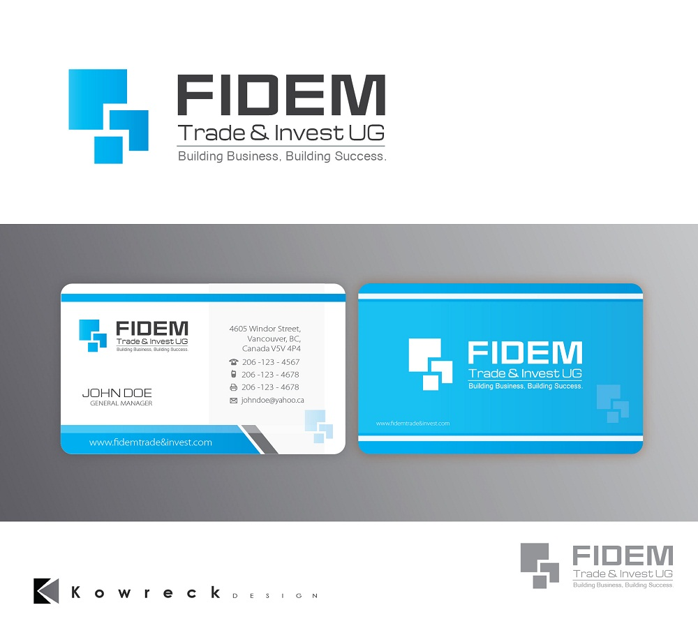 Logo Design by kowreck - Entry No. 441 in the Logo Design Contest Professional Logo Design for FIDEM Trade & Invest UG.