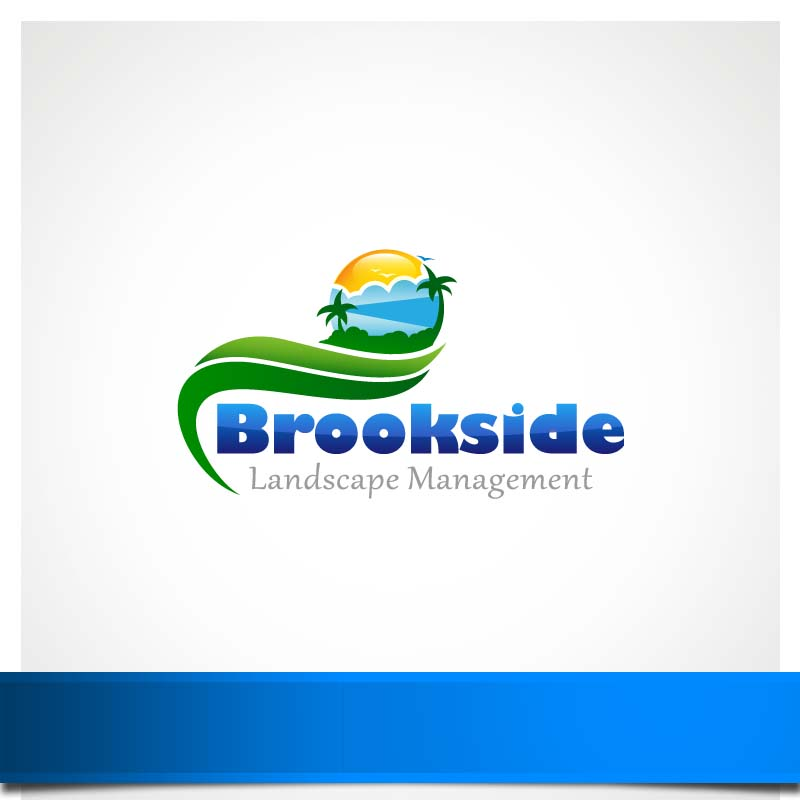 Logo Design by Puspita Wahyuni - Entry No. 127 in the Logo Design Contest New Logo Design for Brookside Landscape Management.