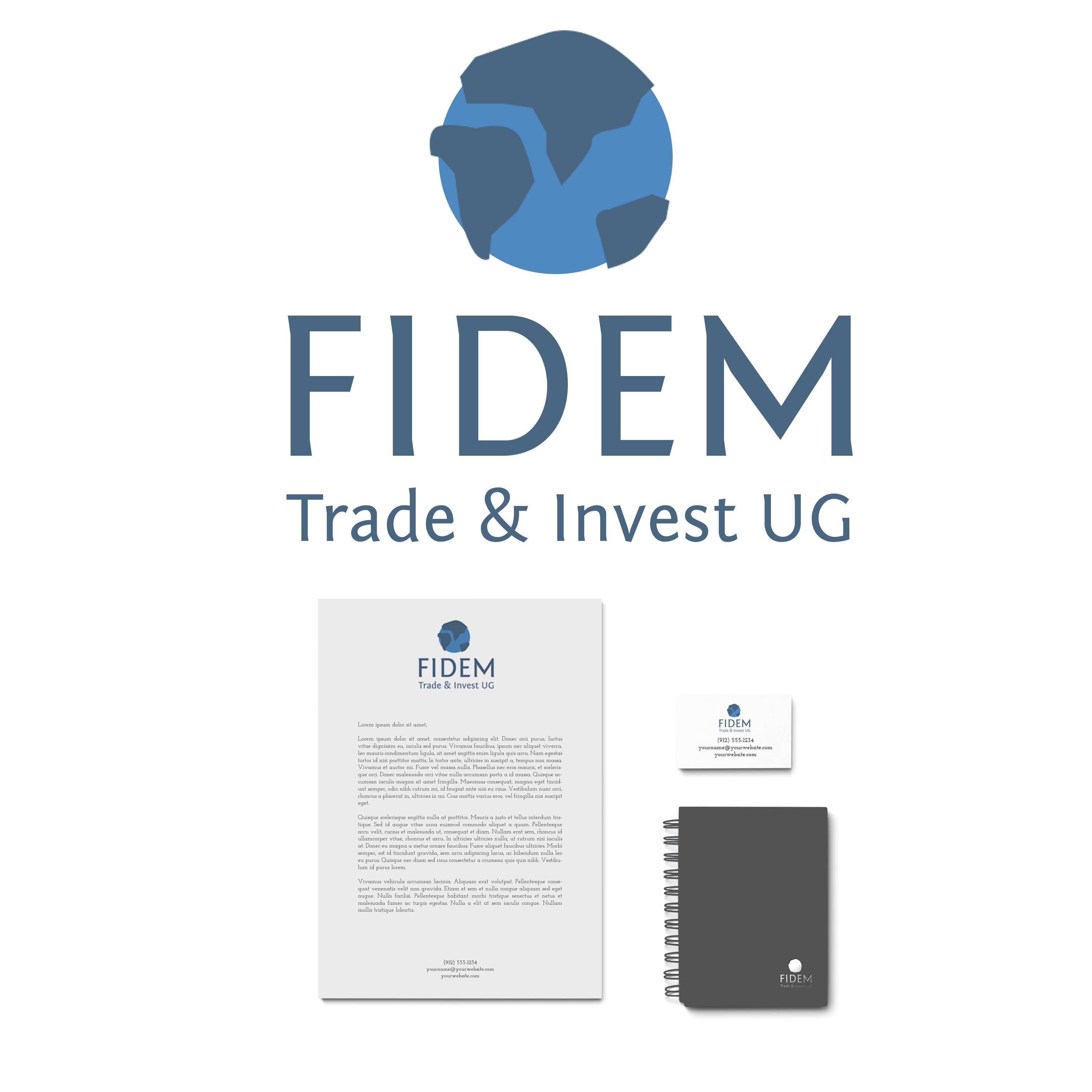 Logo Design by Utkarsh Bhandari - Entry No. 463 in the Logo Design Contest Professional Logo Design for FIDEM Trade & Invest UG.
