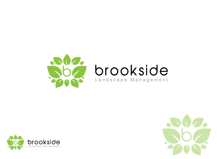 Logo Design by Jan Chua - Entry No. 129 in the Logo Design Contest New Logo Design for Brookside Landscape Management.