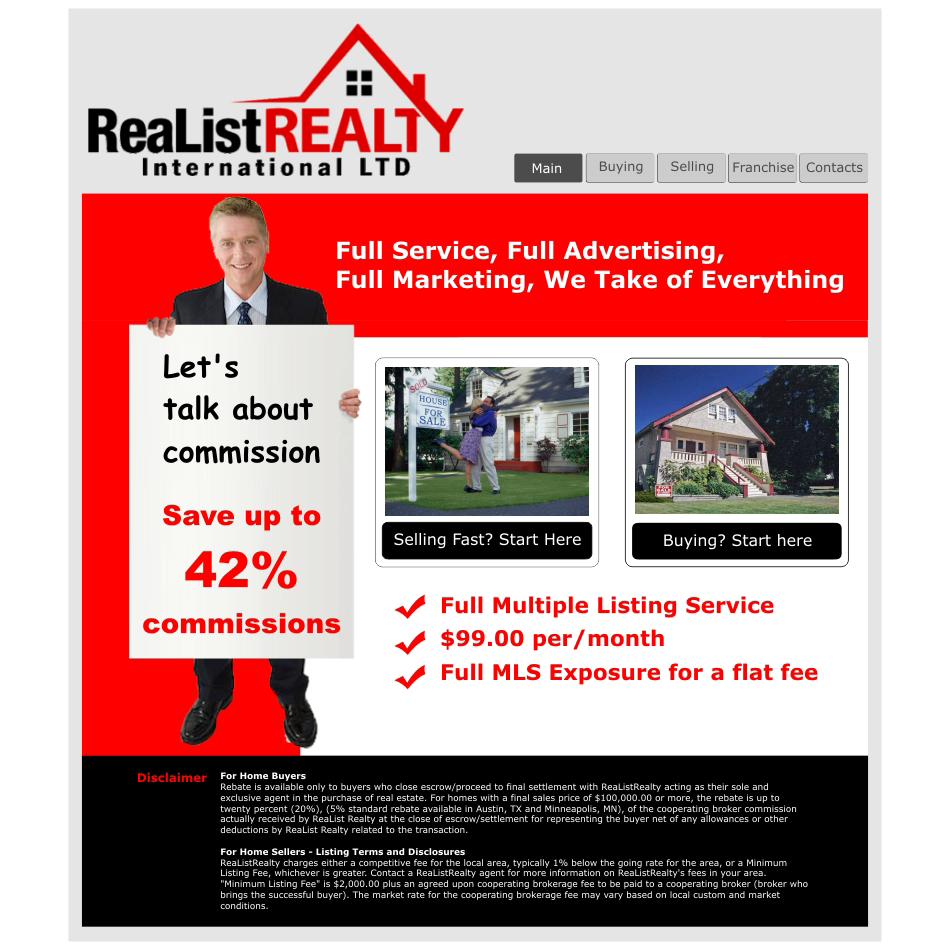 Web Page Design by aspstudio - Entry No. 89 in the Web Page Design Contest Realist Realty International Ltd..