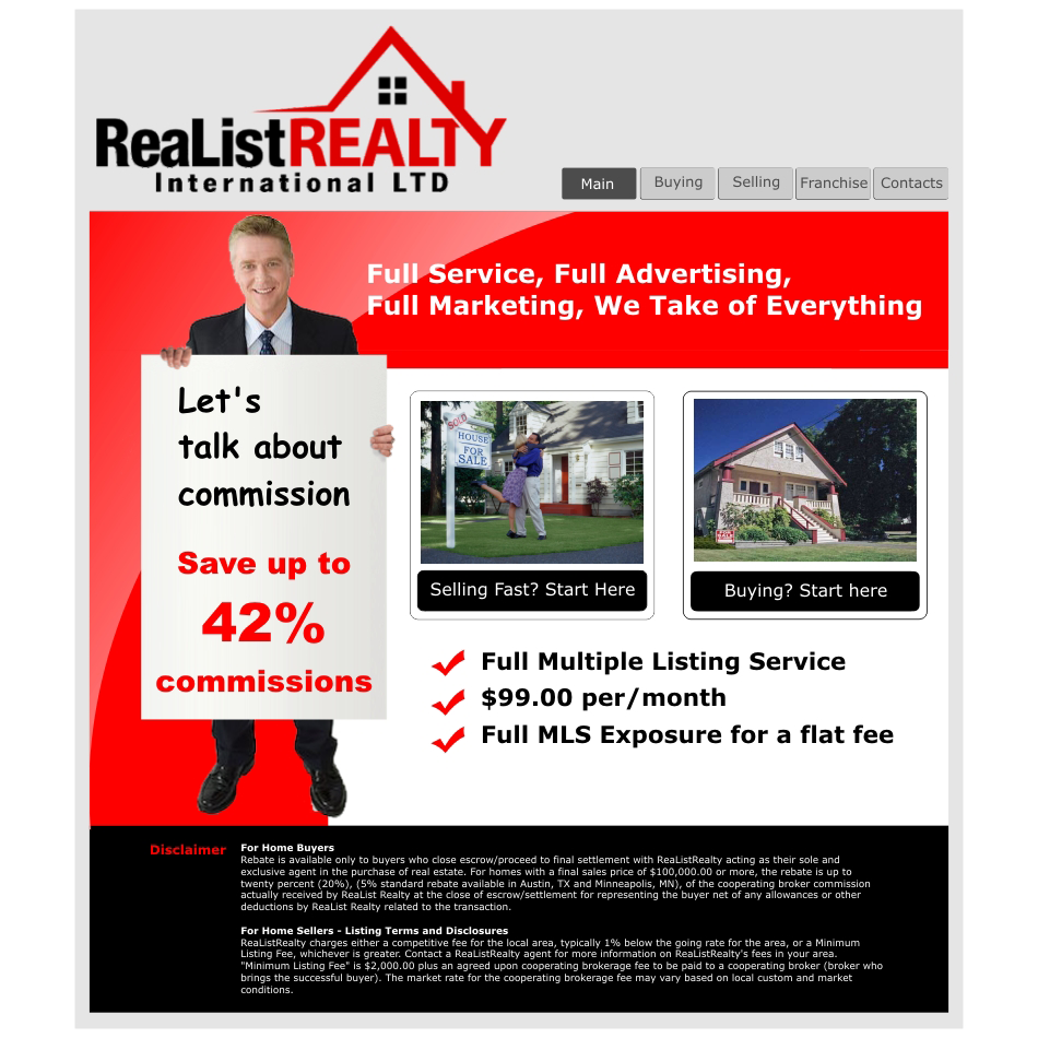 Web Page Design by aspstudio - Entry No. 91 in the Web Page Design Contest Realist Realty International Ltd..