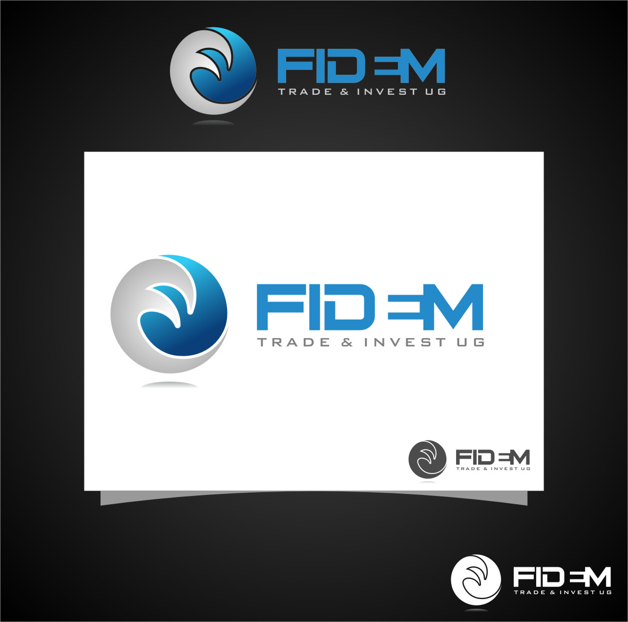 Logo Design by RoSyid Rono-Rene On Java - Entry No. 496 in the Logo Design Contest Professional Logo Design for FIDEM Trade & Invest UG.