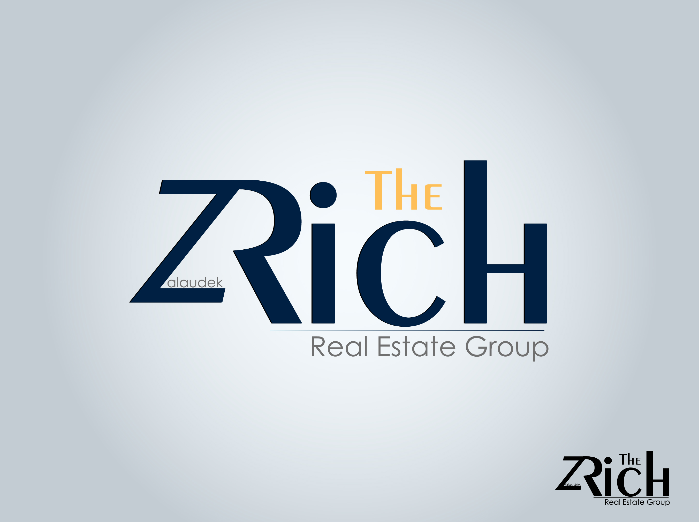 Logo Design by nTia - Entry No. 8 in the Logo Design Contest The Rich Z. Real Estate Group Logo Design.