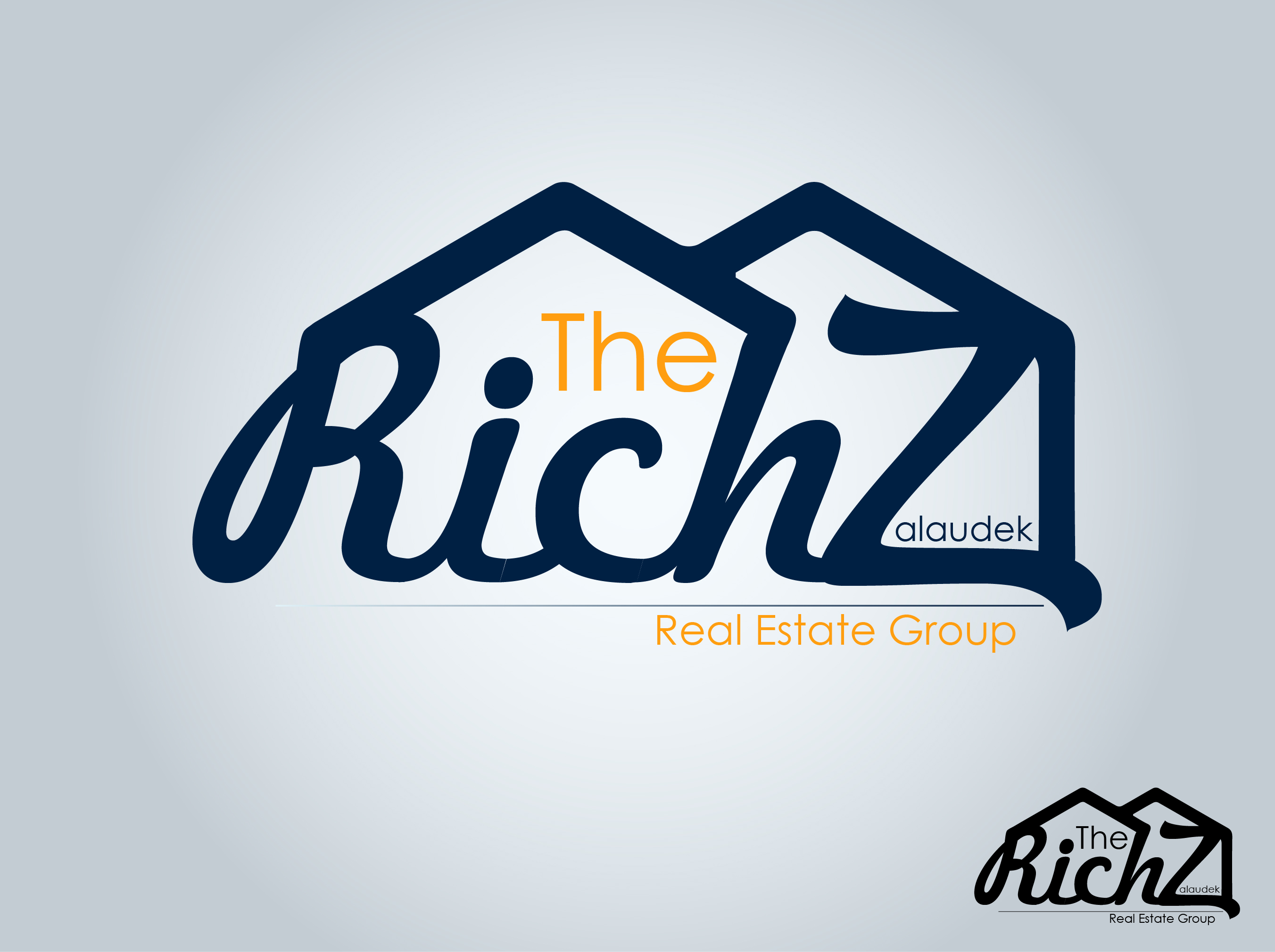 Logo Design by nTia - Entry No. 10 in the Logo Design Contest The Rich Z. Real Estate Group Logo Design.