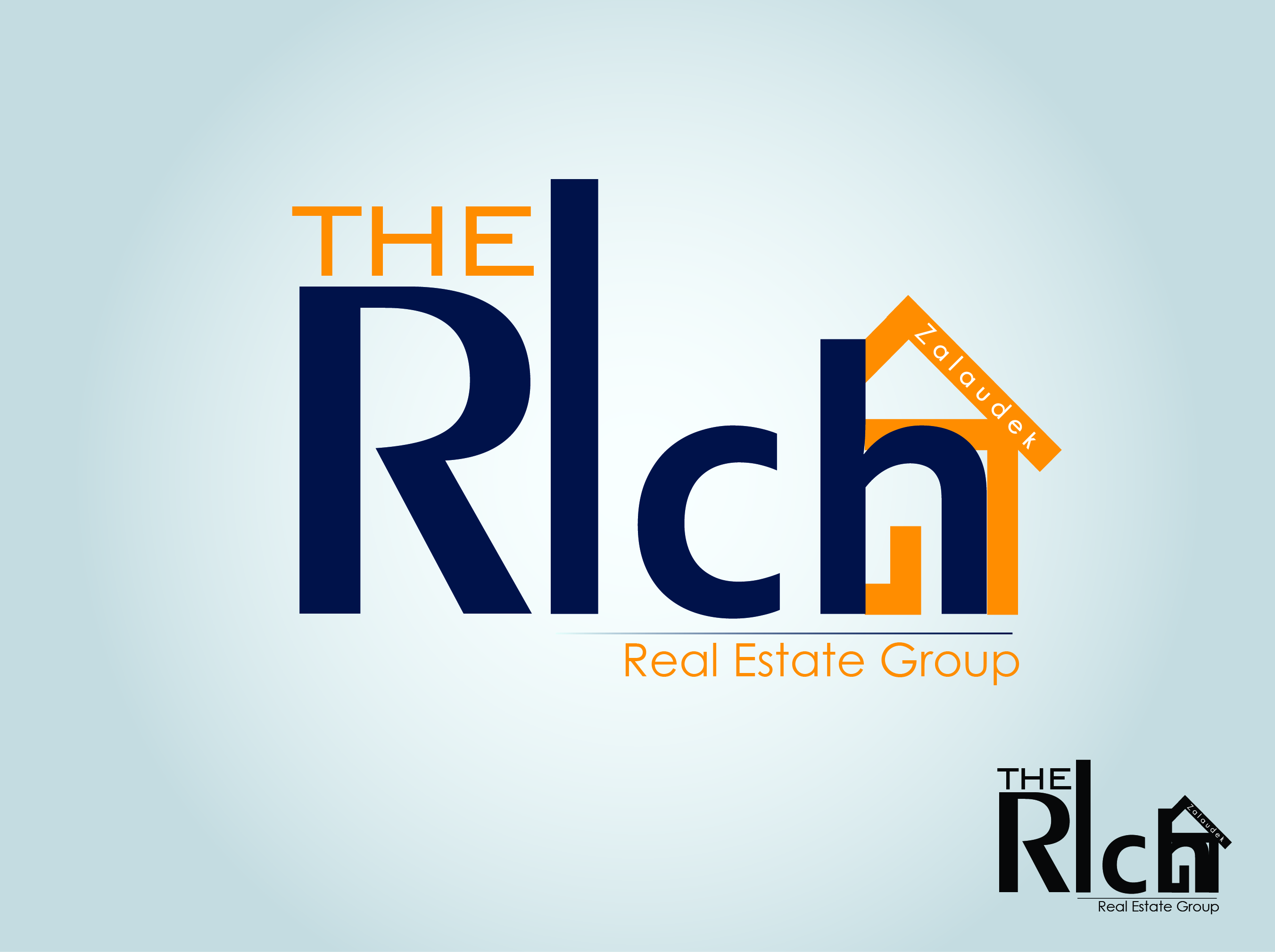 Logo Design by nTia - Entry No. 11 in the Logo Design Contest The Rich Z. Real Estate Group Logo Design.