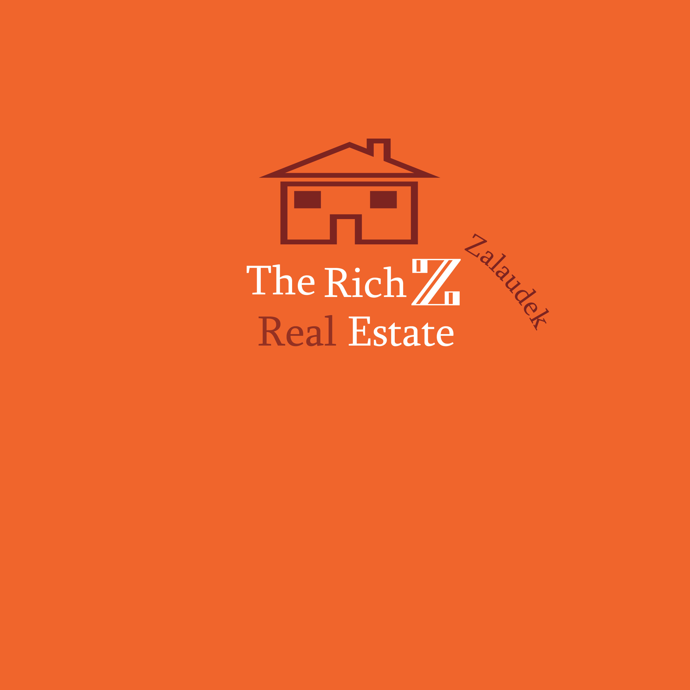 Logo Design by Laila Tariq - Entry No. 12 in the Logo Design Contest The Rich Z. Real Estate Group Logo Design.